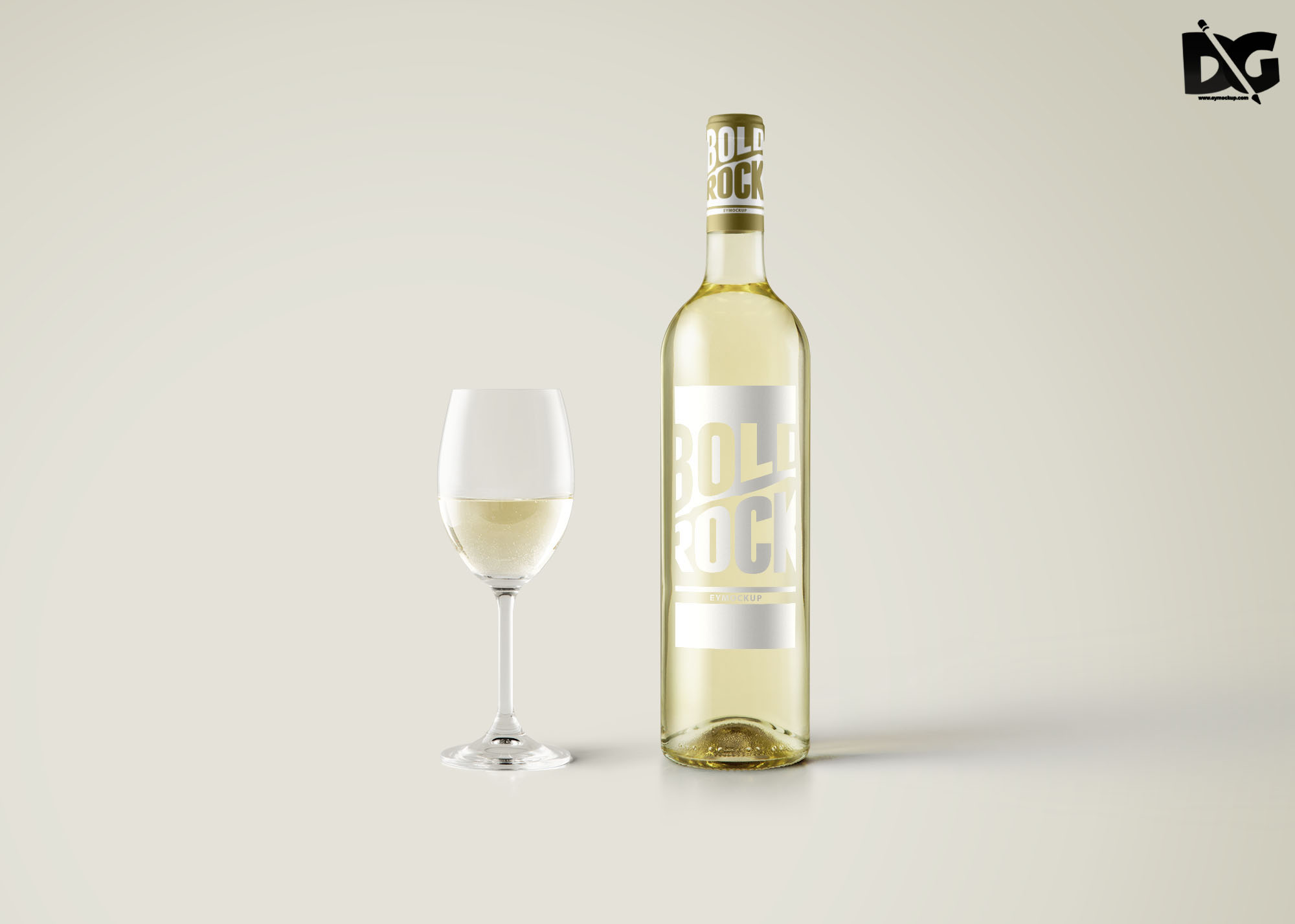 TransParent Wine Mockup