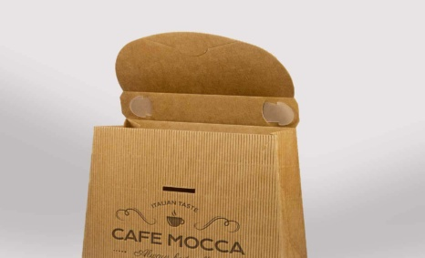 Brown Carton Logo Mockup