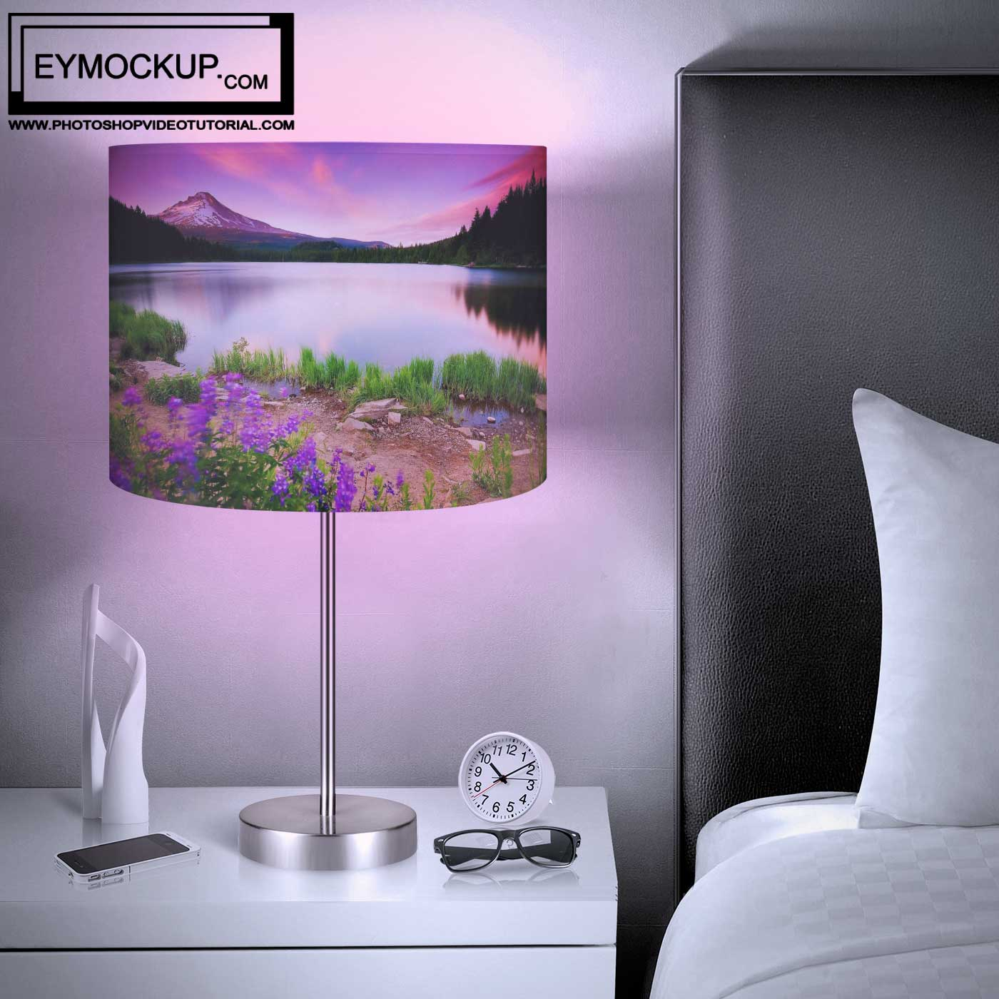 Night Bedroom Lamp Mockup