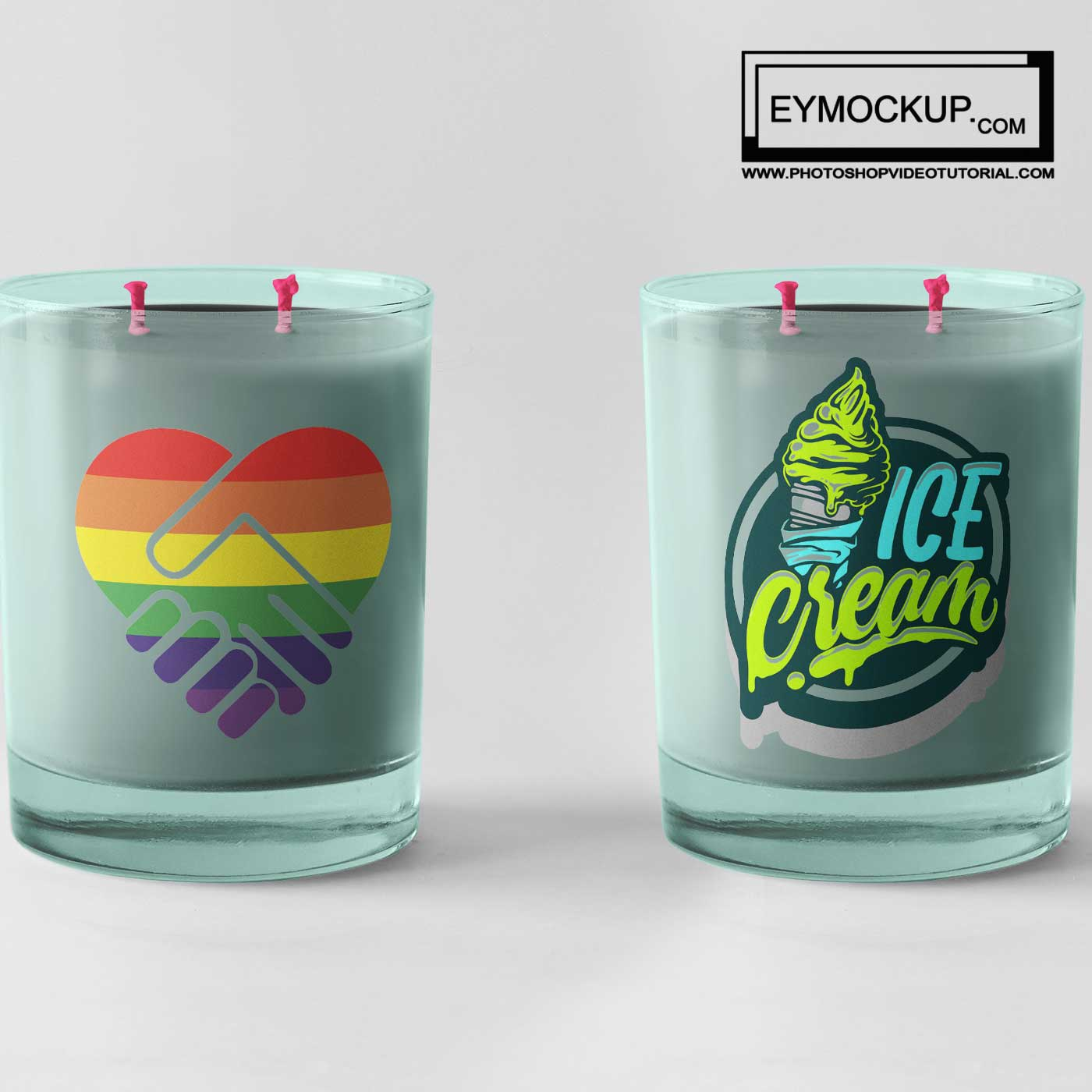 Night Candle Dinner Mockups
