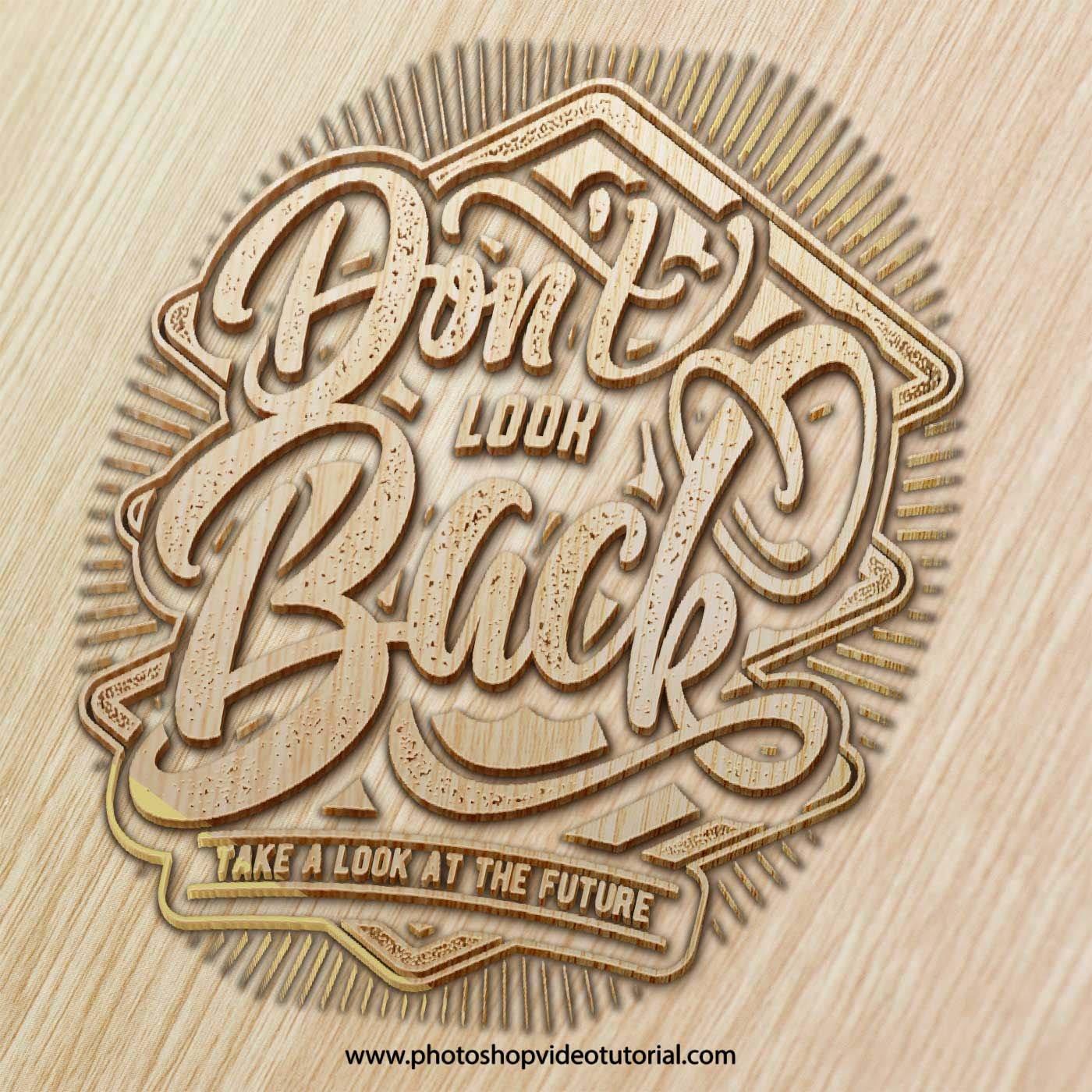 Wood Engrave Logo Mockup