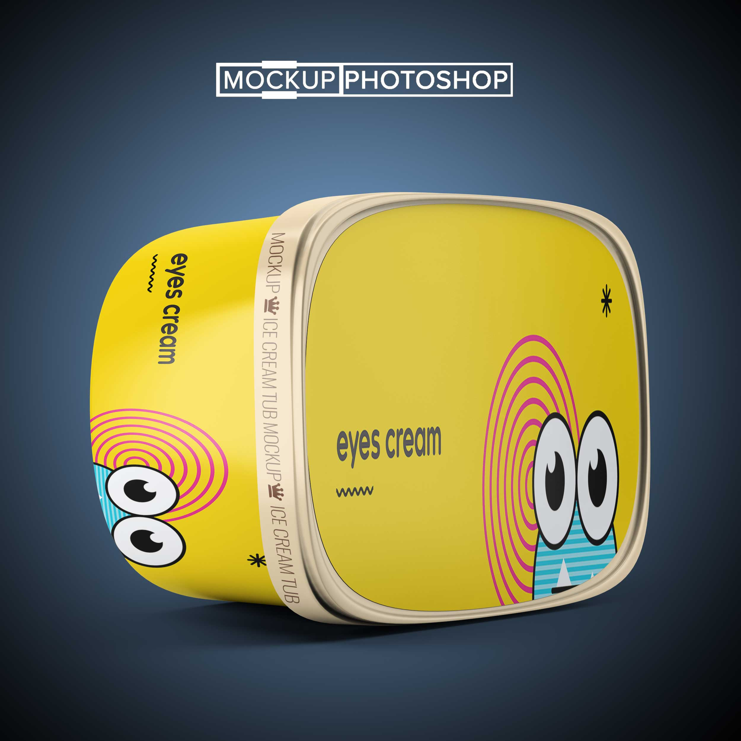 New Ice Cream Container Mockup
