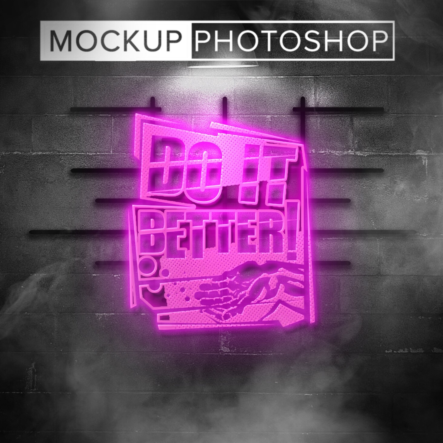 Lighting Neon Effect Mockups