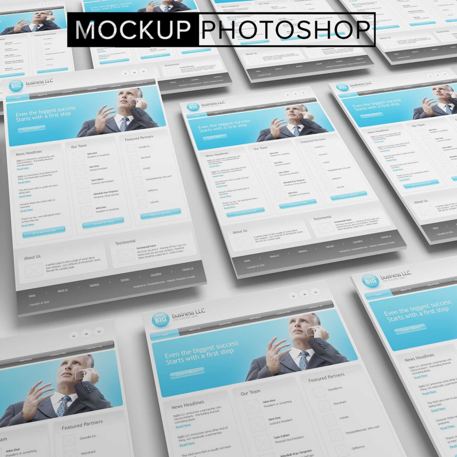 Collection Of Website Mockups