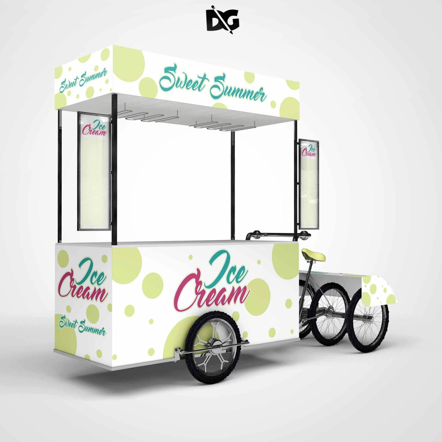 Icecream Booky Design Mockups