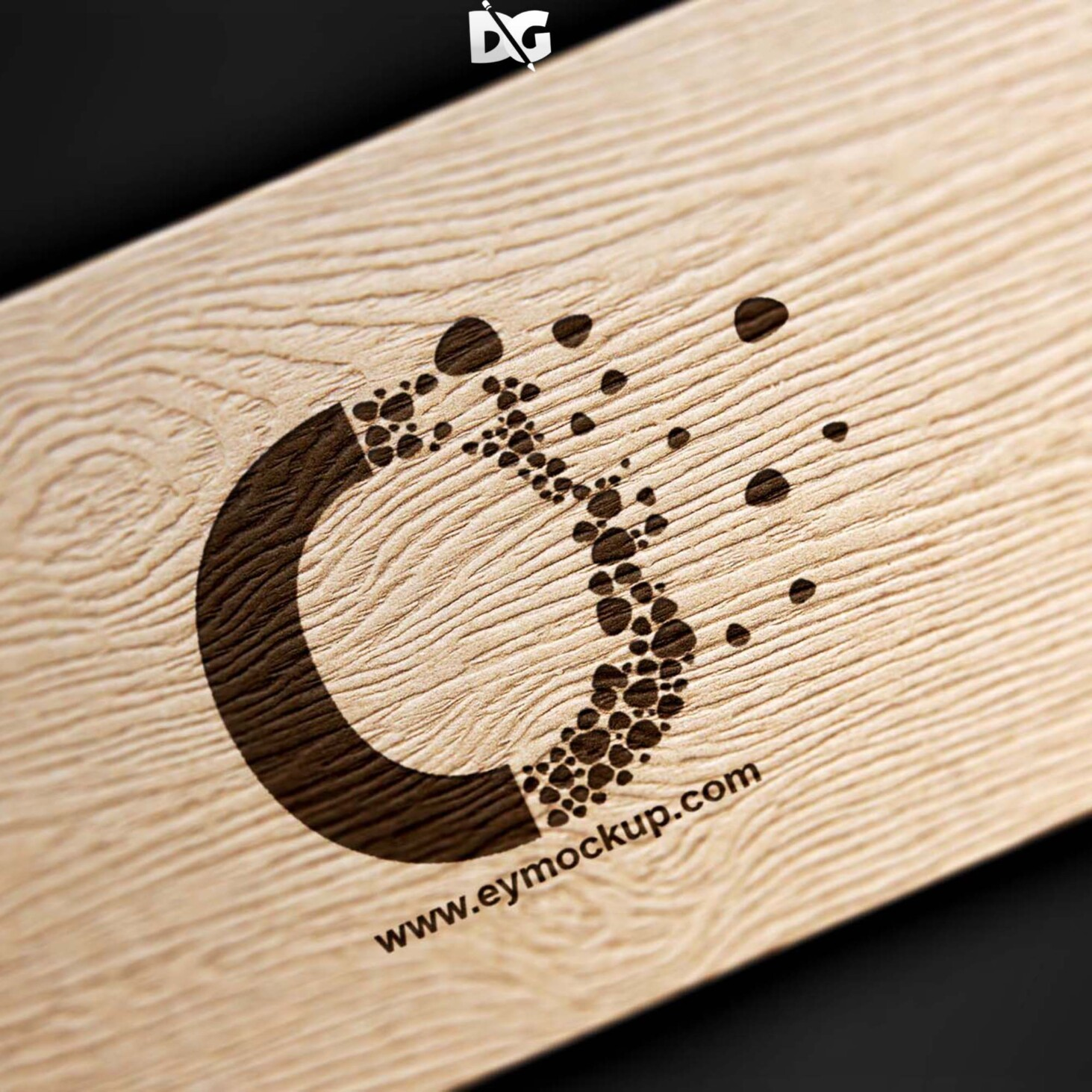 Wood Craft Logo Mockup PSD