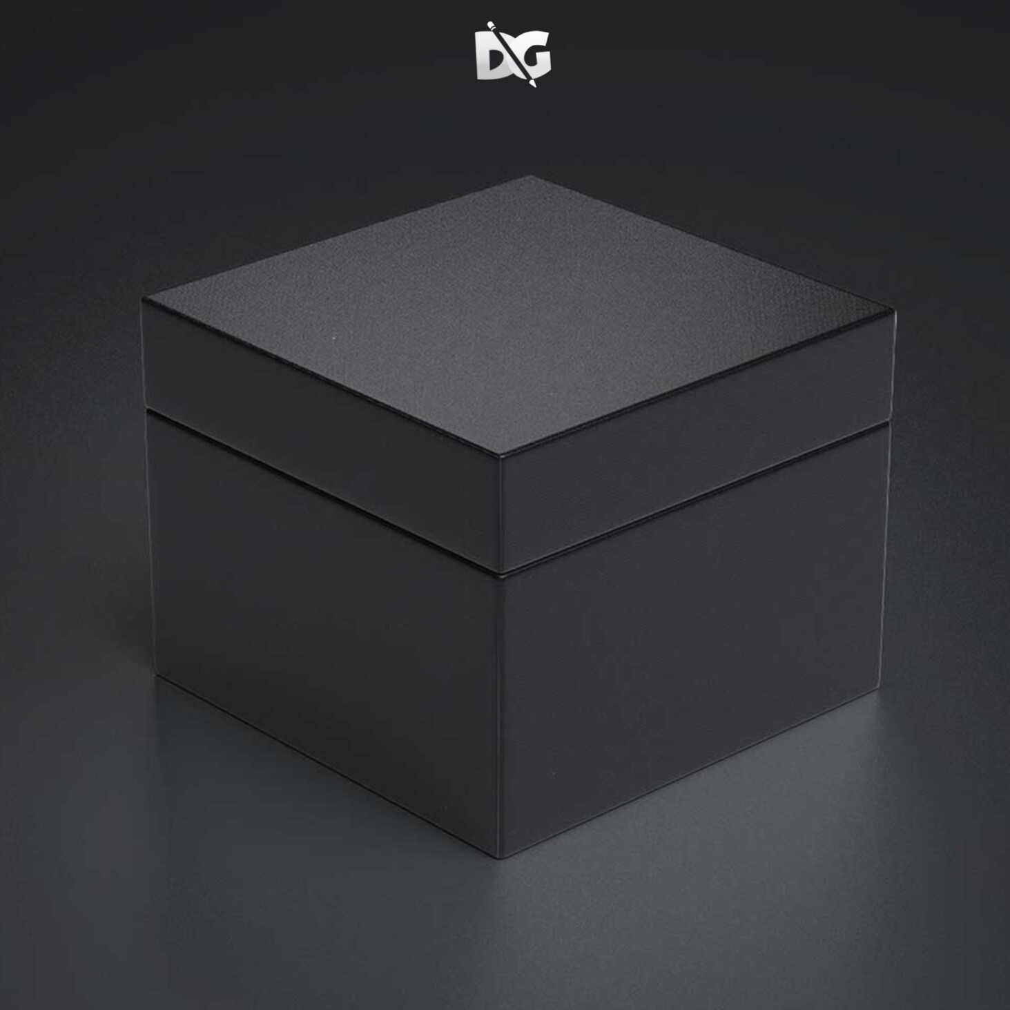 Clean Packed Box Mockup