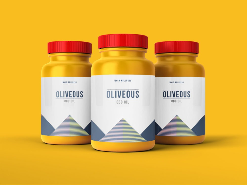 Protein Bottle Label Packaging Mockup