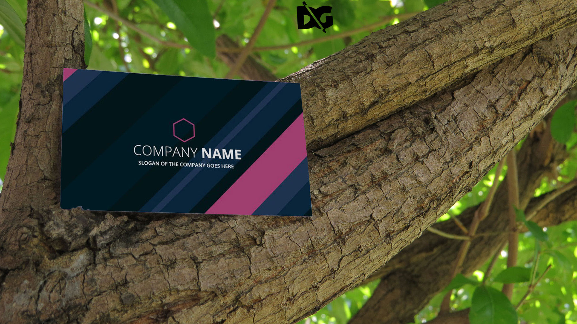 Business Card Nature Mockup