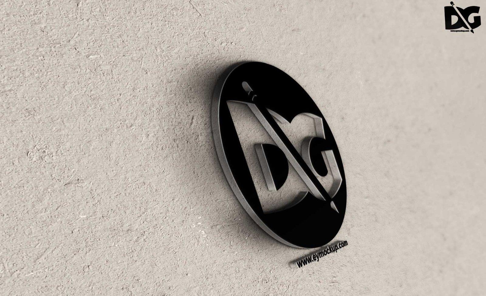 3D Tilt Logo Mockup