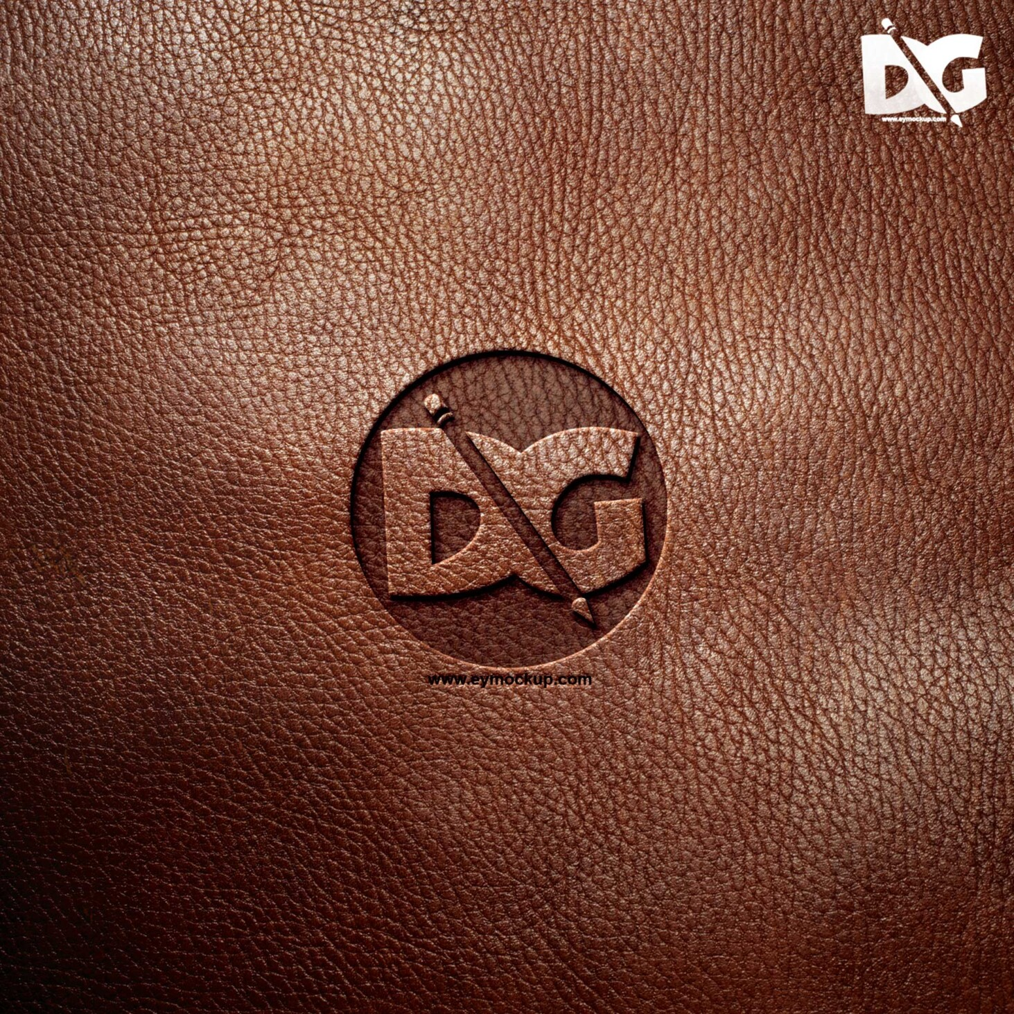 Leather Logo Mockup.