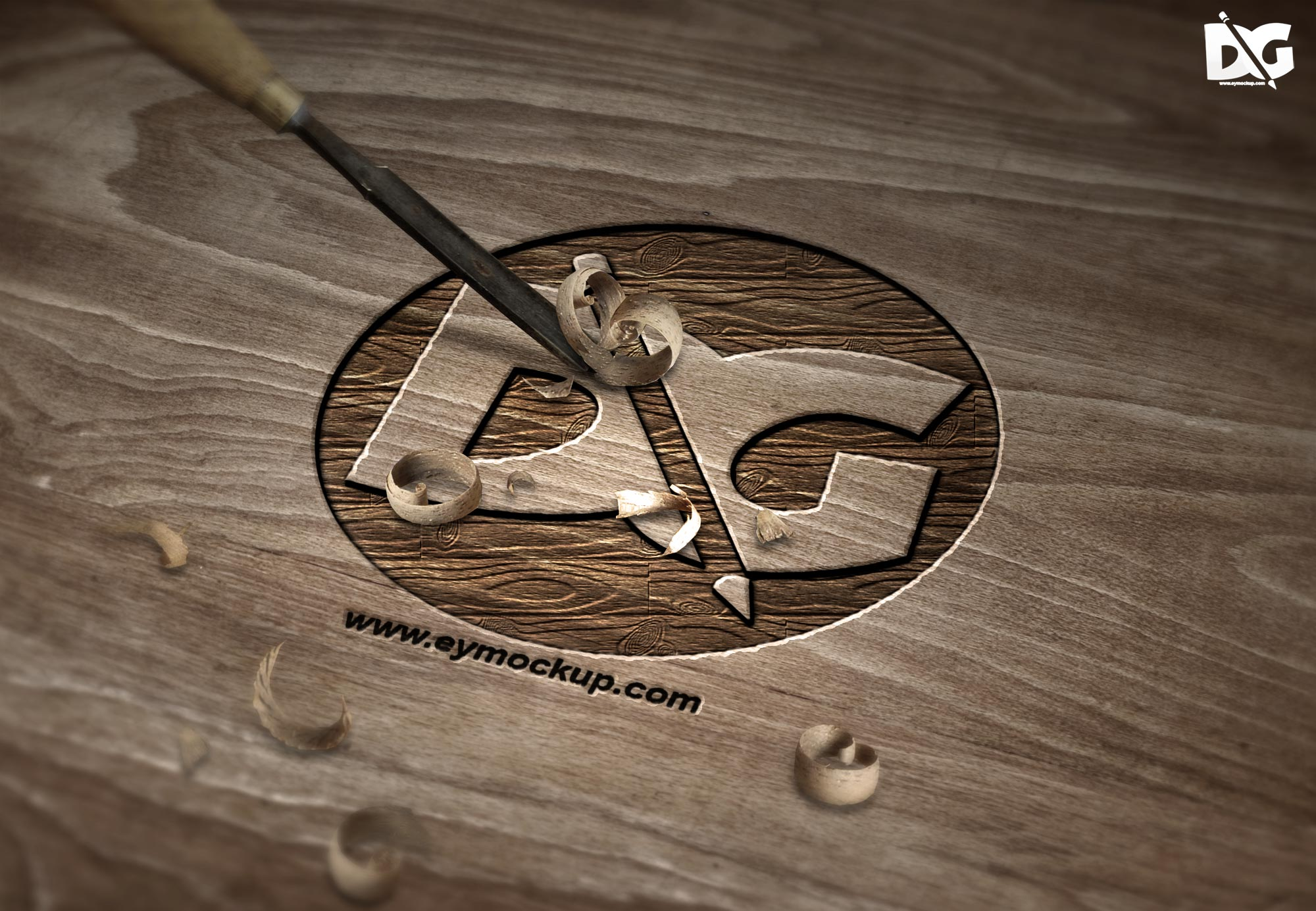 Cutted Logo Mock-up