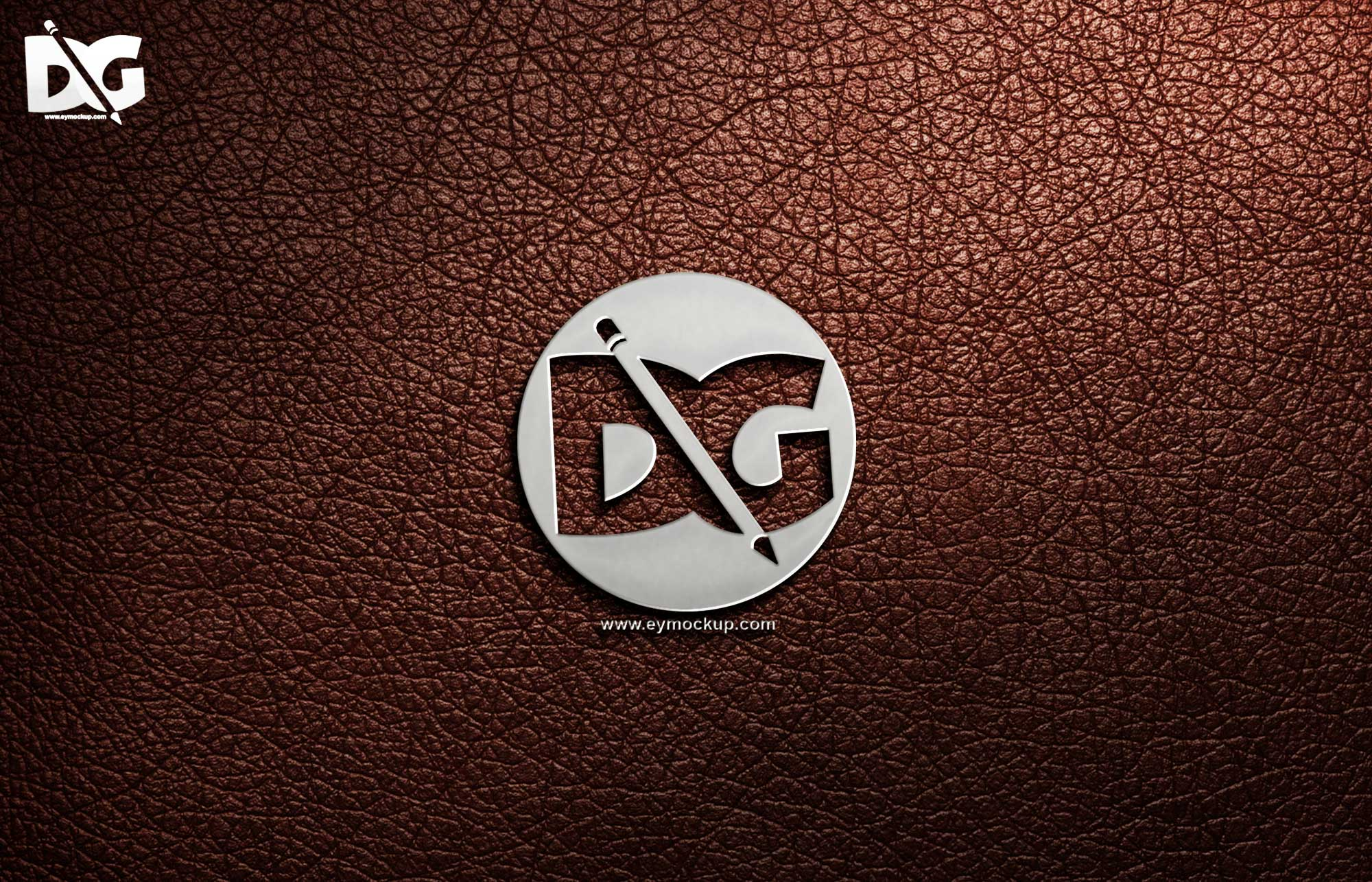 Leather Logo Mockup