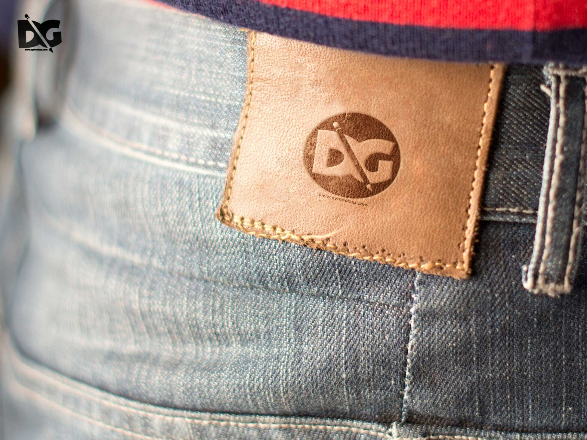 Jeans Leather Logo