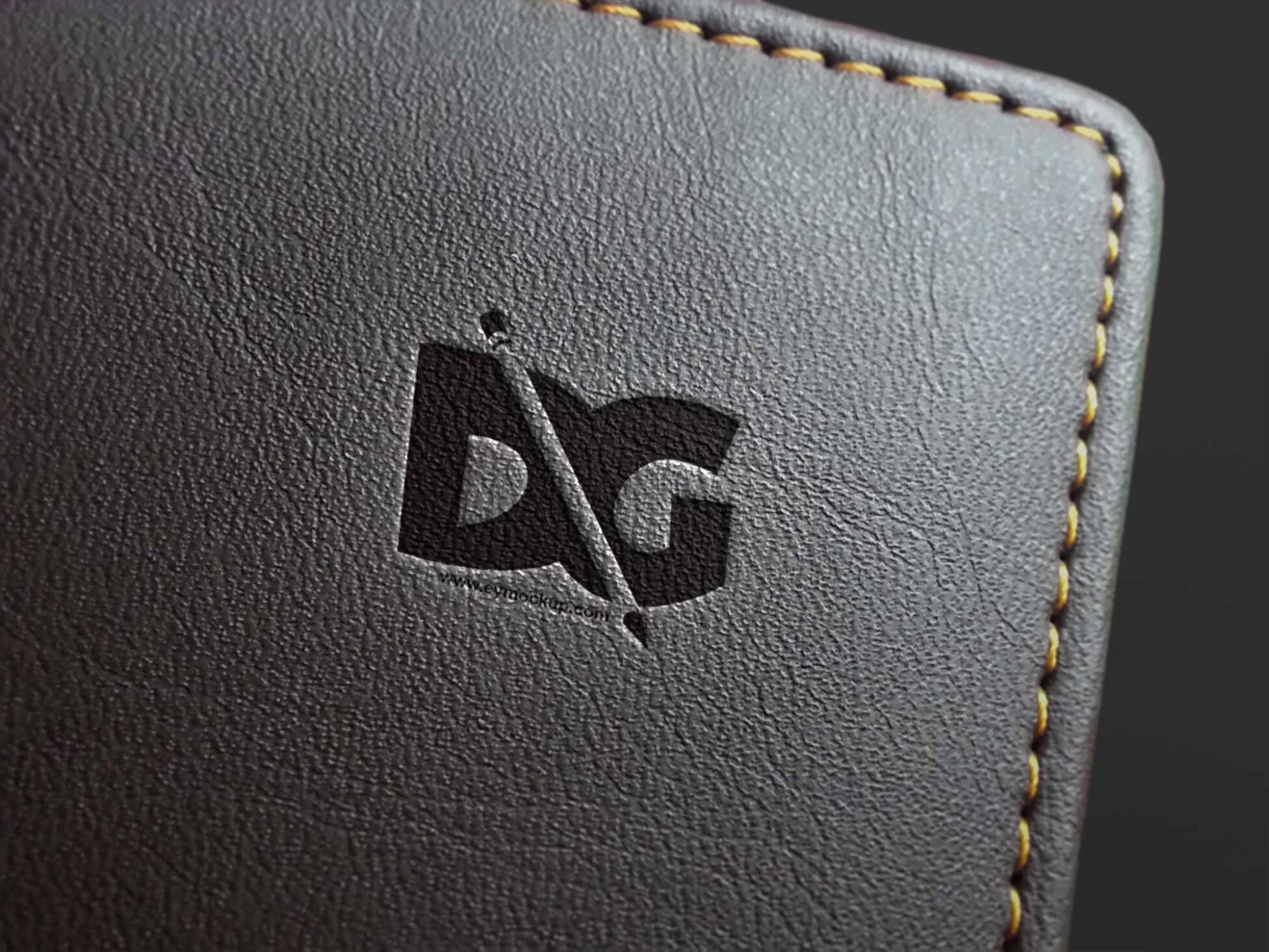 leather logo mockup embossed free psd mockup new mockup leather logo mockup embossed free psd