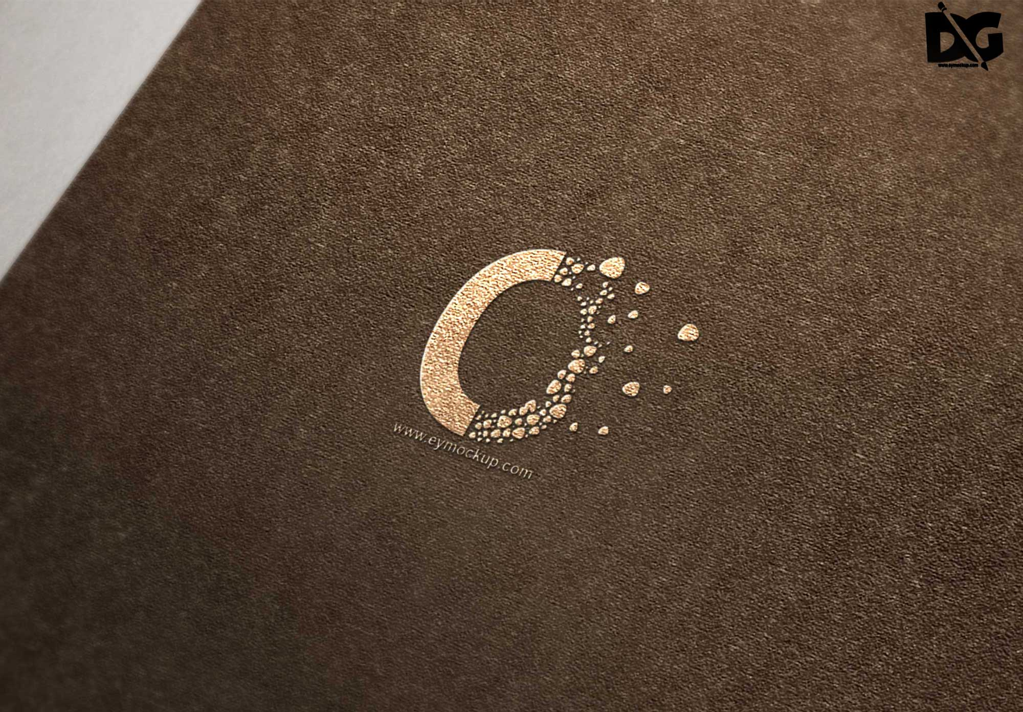 Brown Fabric Logo Mockup