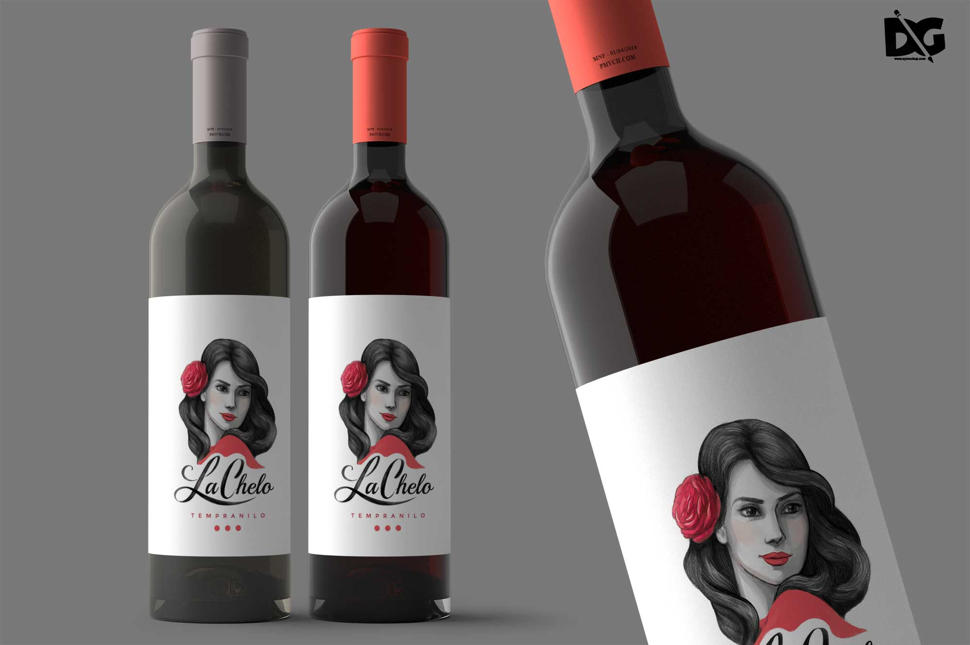 Wine Label Mockup