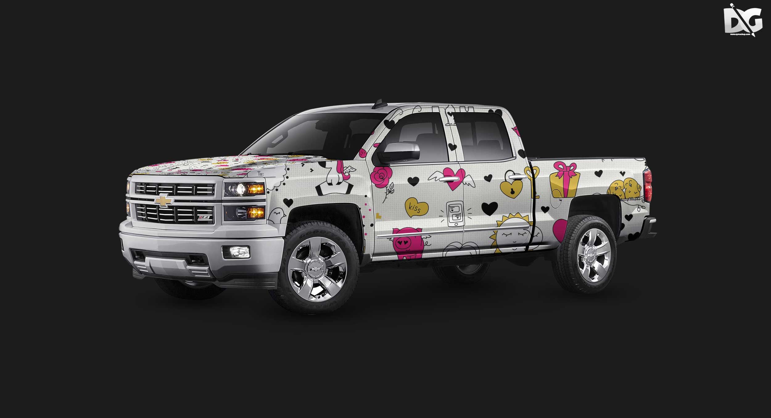 Free Chevrolet Wrap Design Mockup