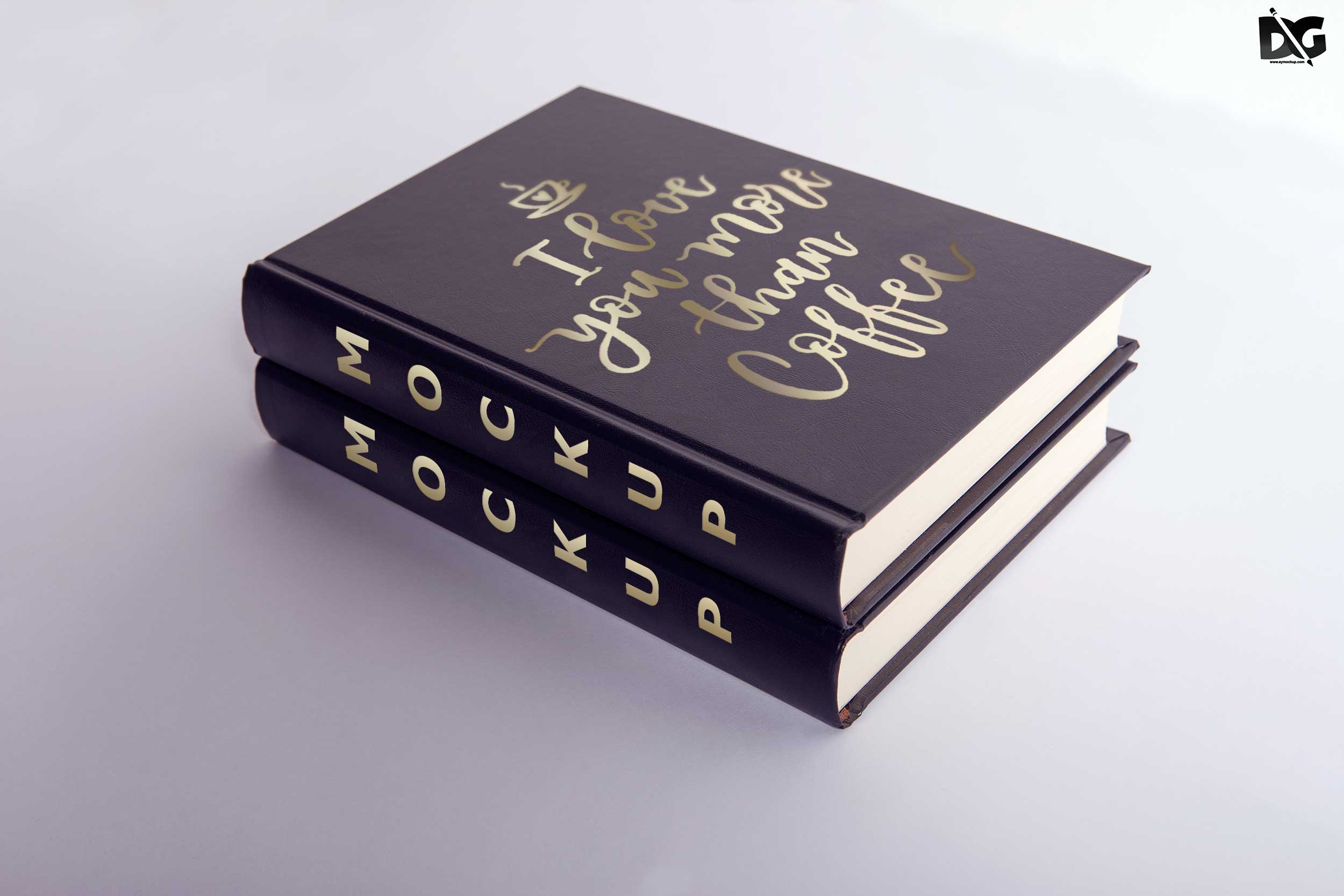 Free Hard Leather Book Cover PSD Mockups