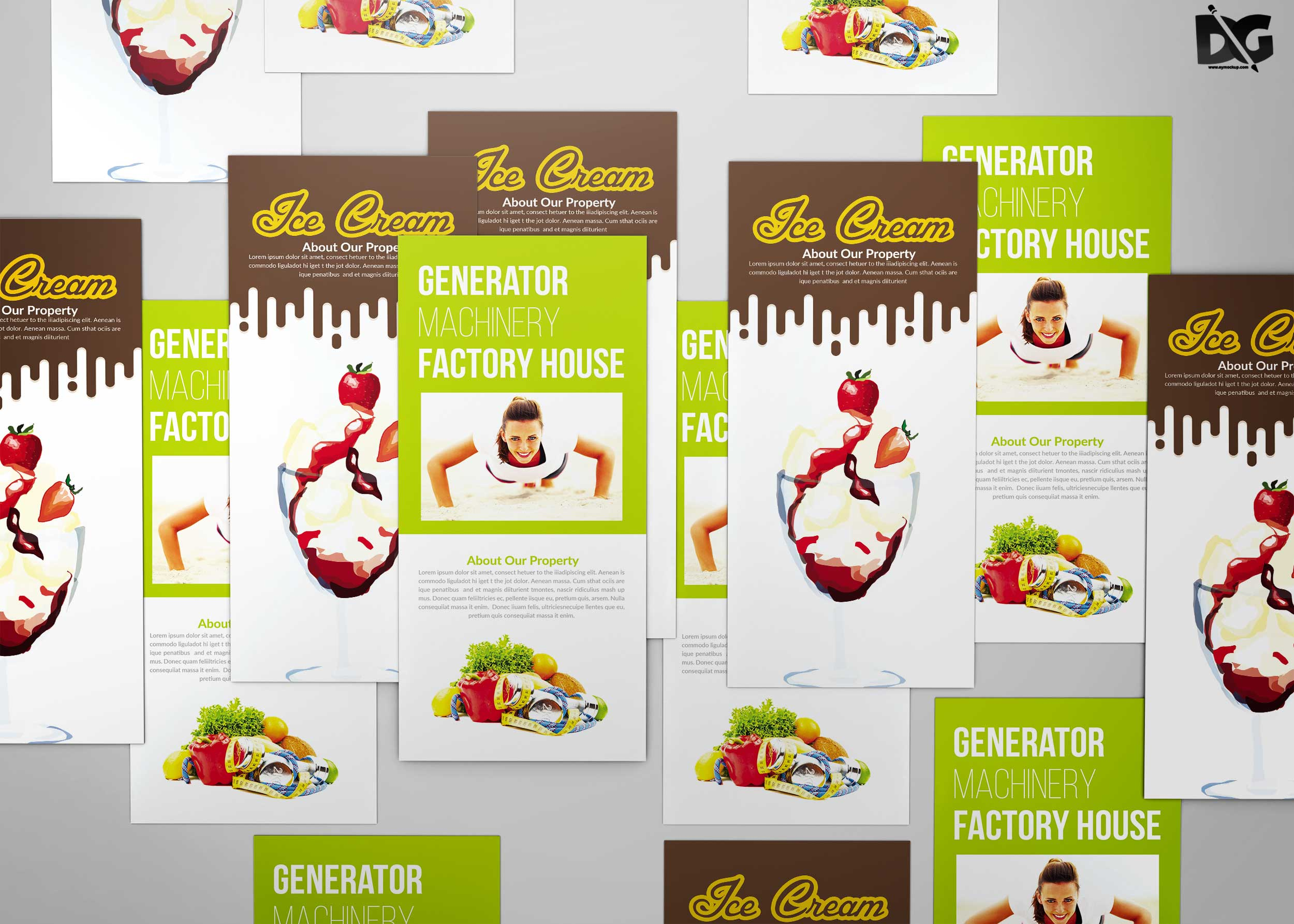 Free Mock-up DL Flyer PSD