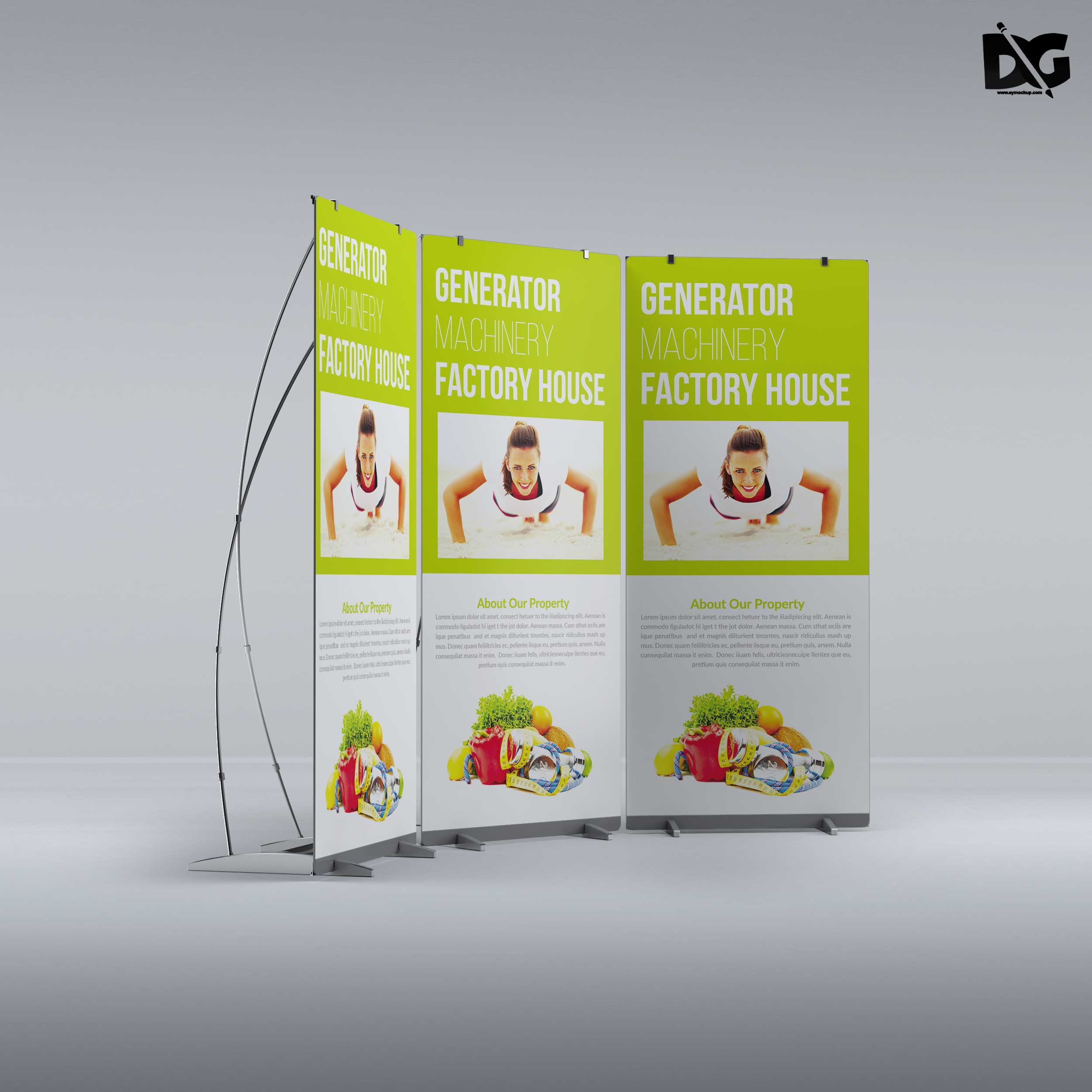 Free Mock-up Roll-up Banner Presentation