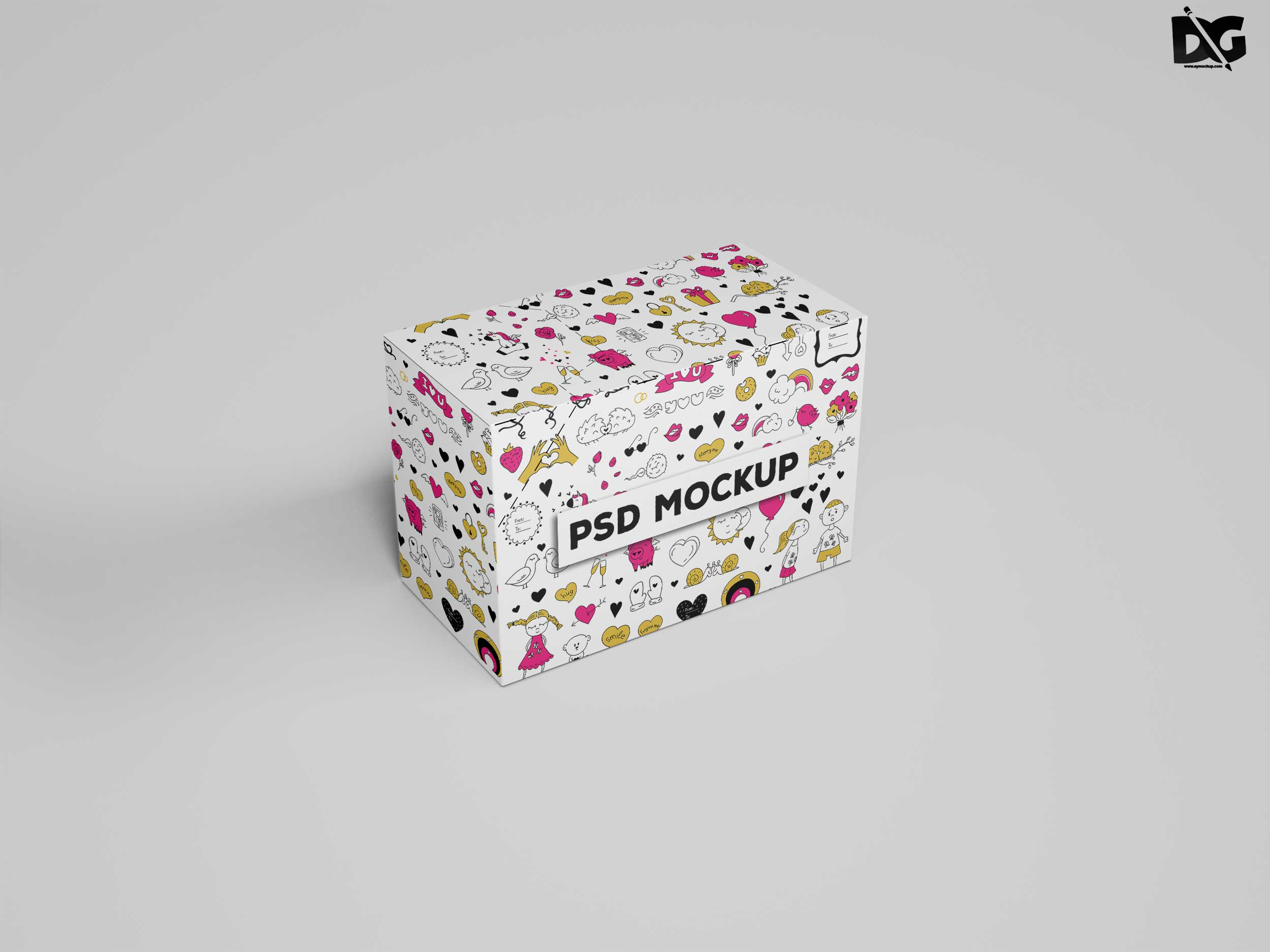 Free Mock-ups Shoe Box