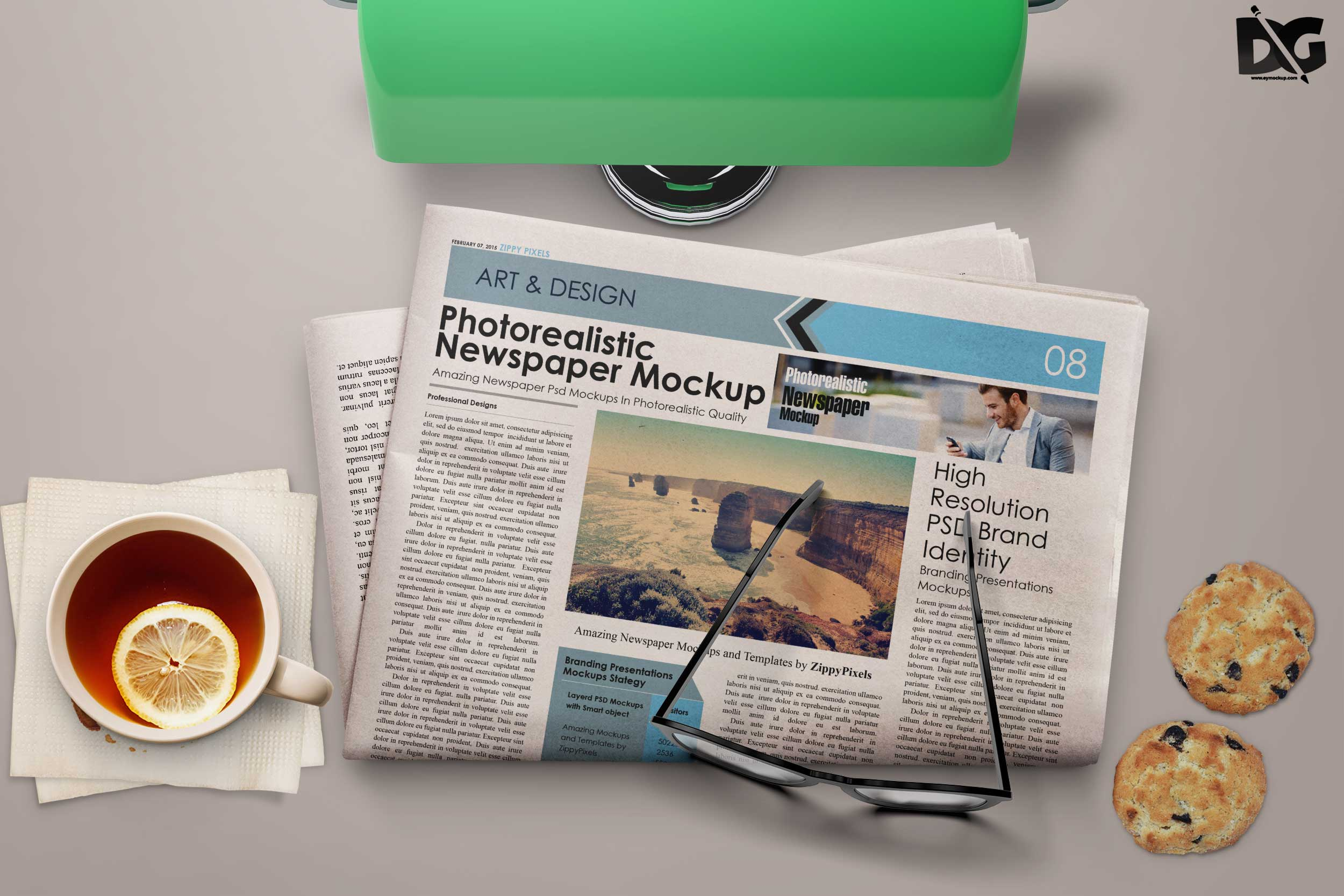 Morning NewsPaper Mockup
