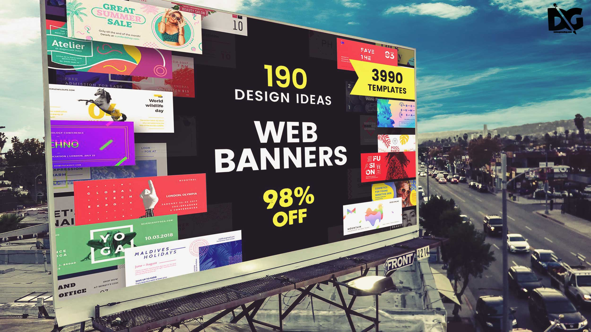 Free Billboard Mock-up Template