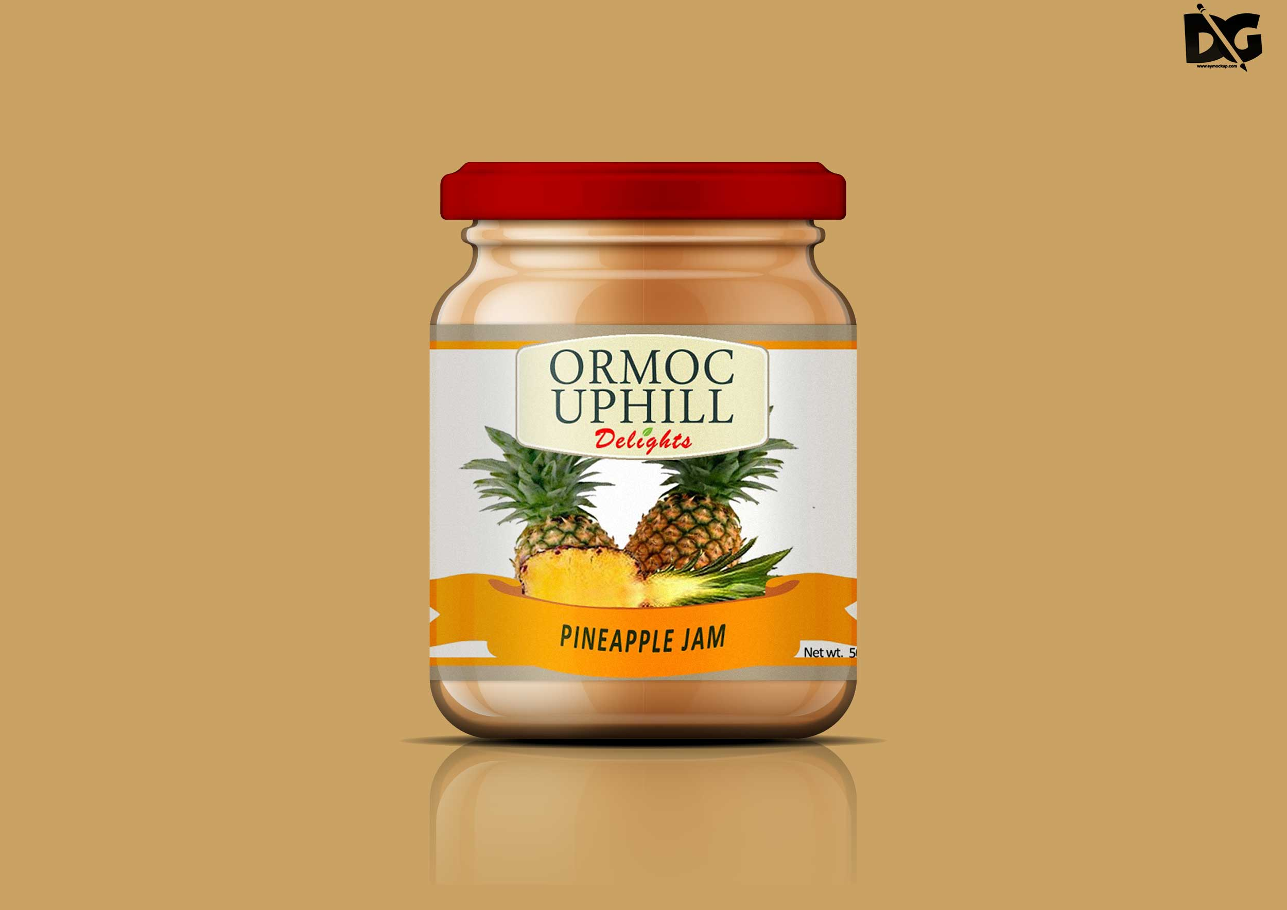 Jar Label Mockup