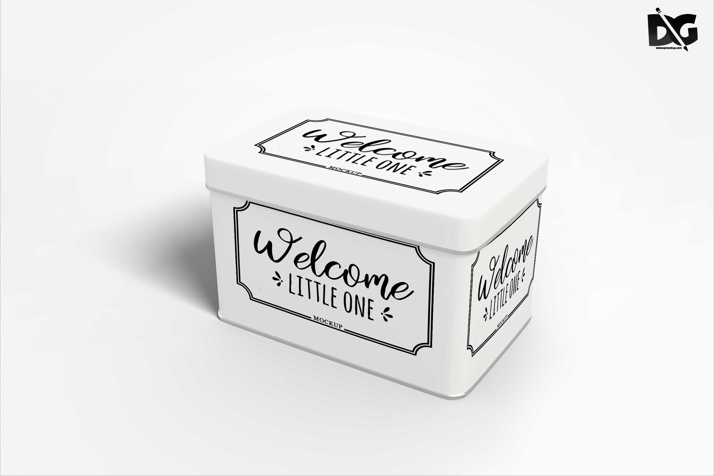Free Premium PSD Box Label Design Mockup