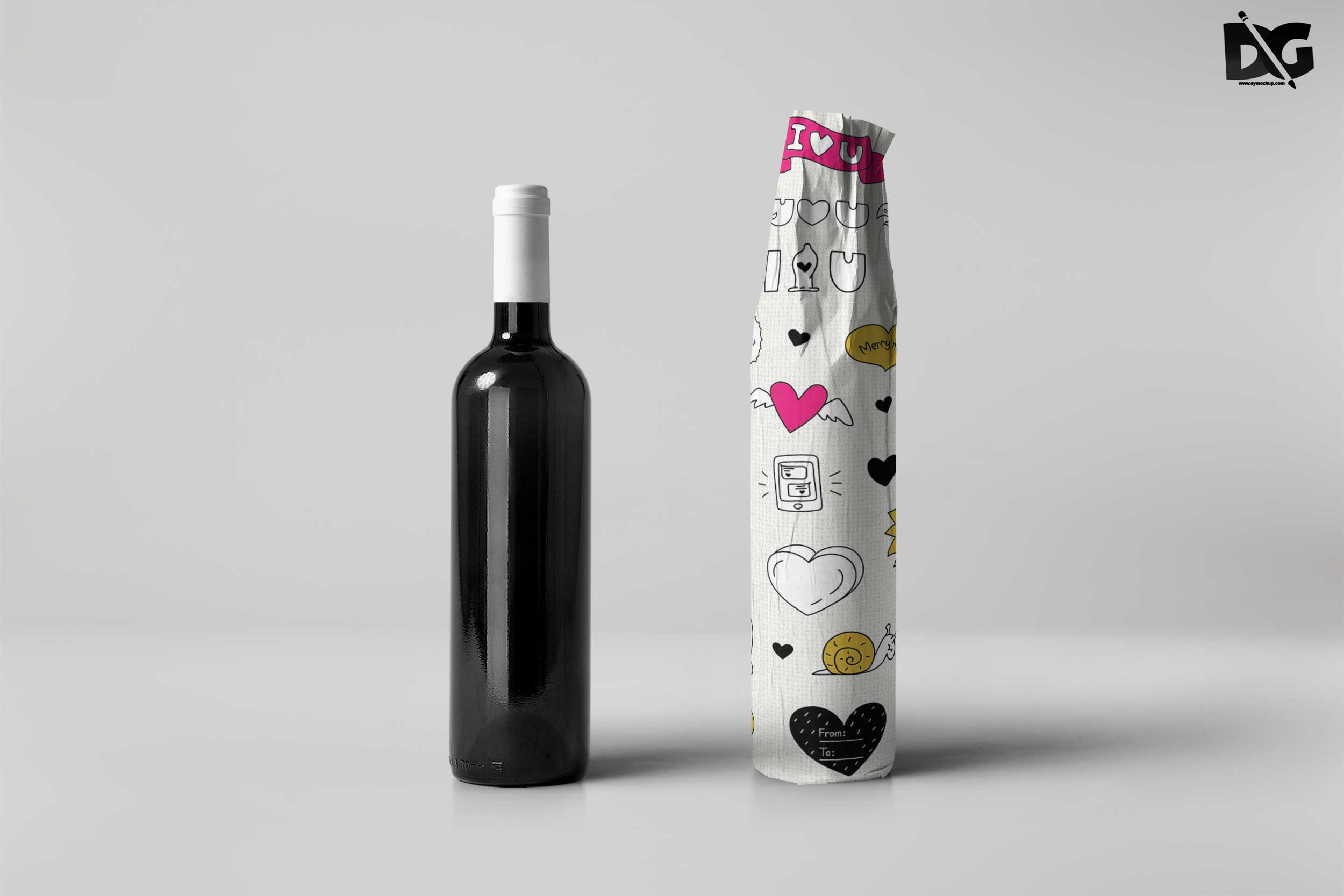 Wrap Bottle Mockup
