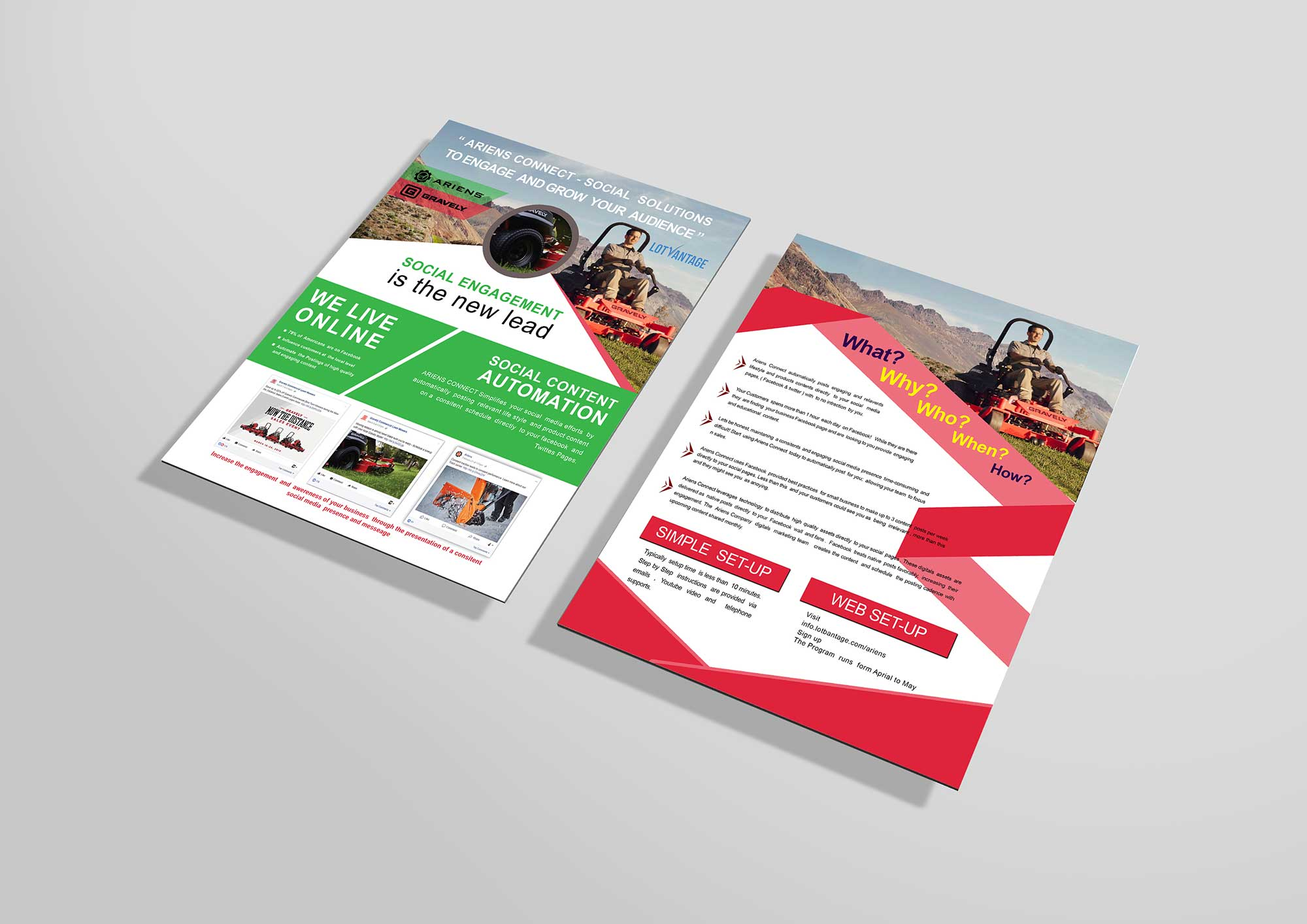 Free Social Engagement PSD Flyer Template