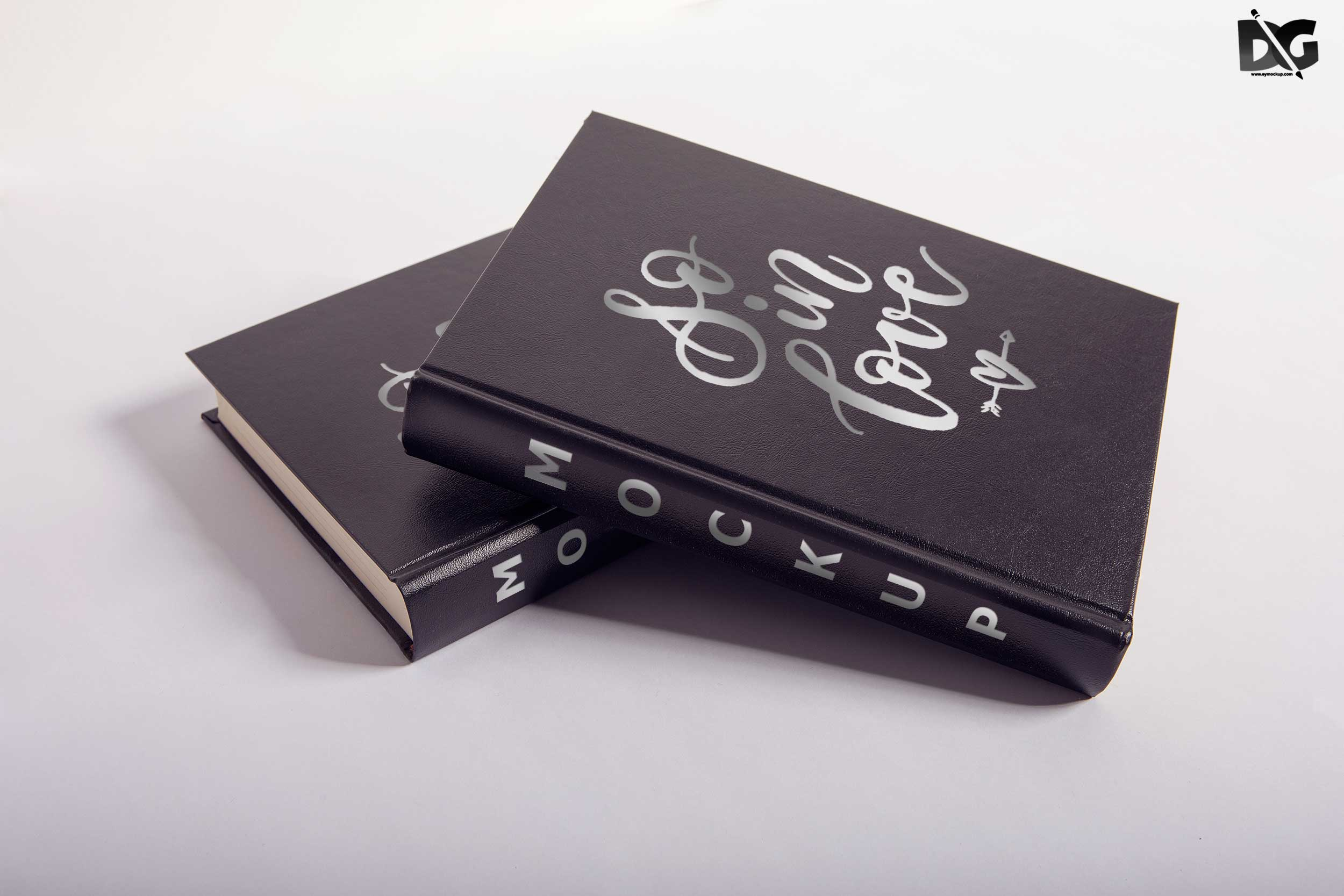 Free Leather Book Cover PSD Mockup