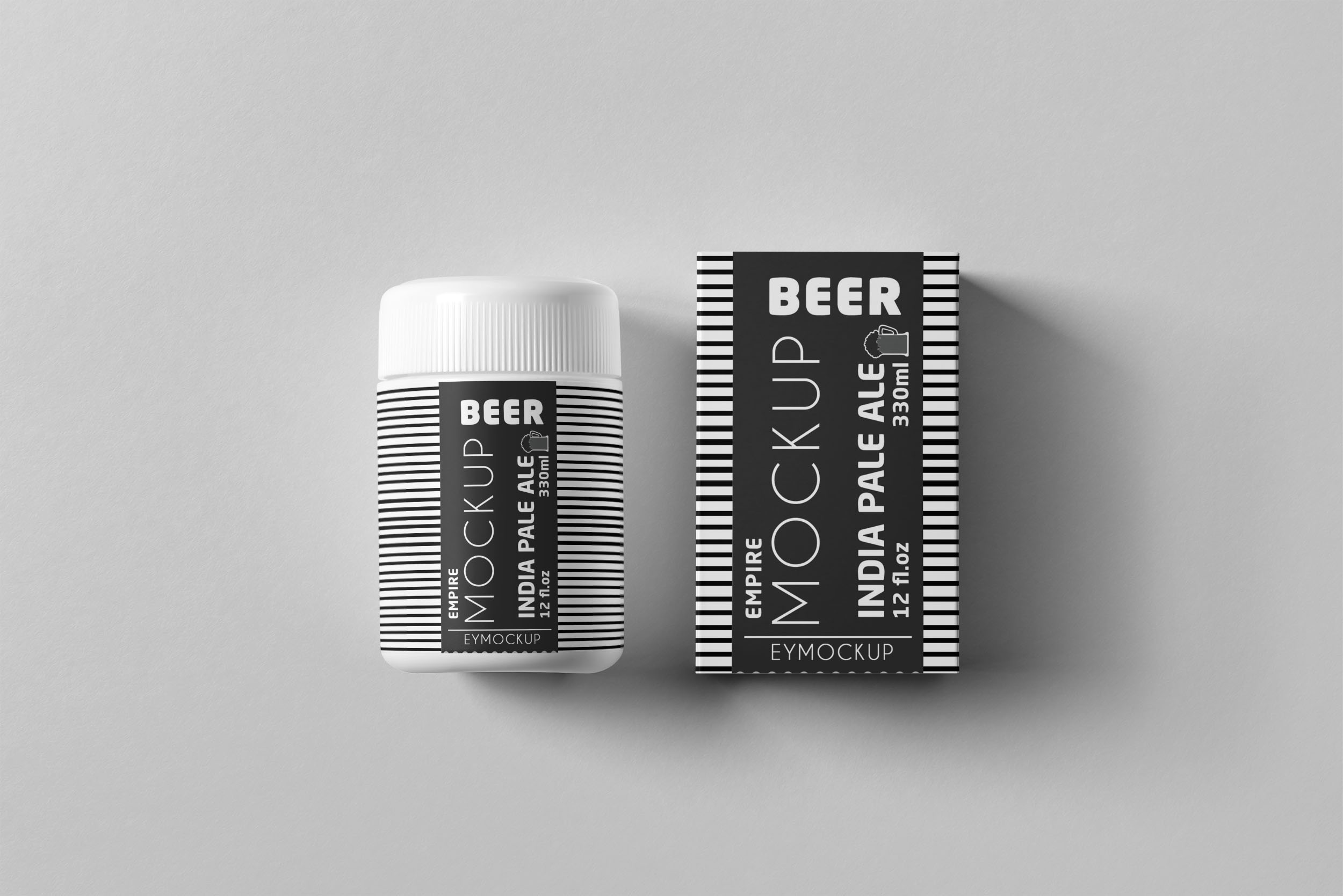 Pill Supplemeny Bottle Label Mockup