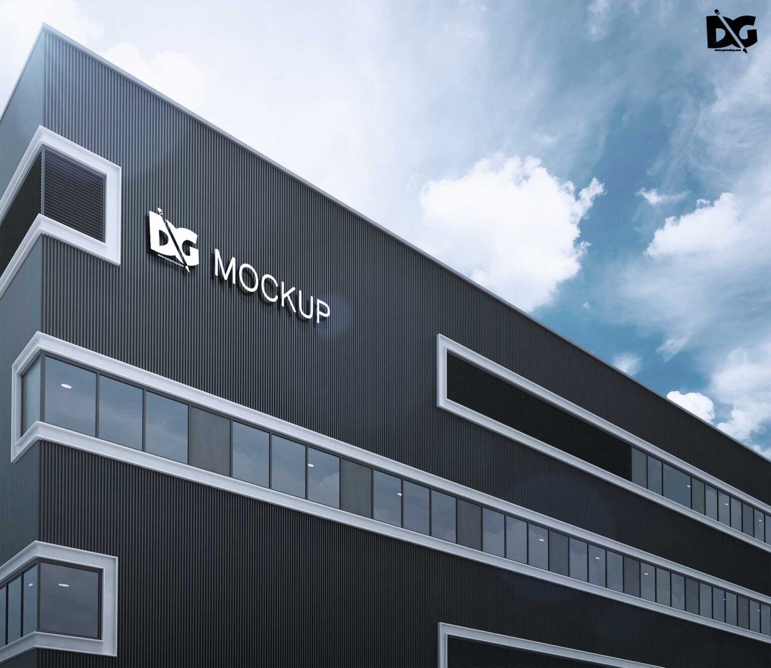 free premium office building psd mockups