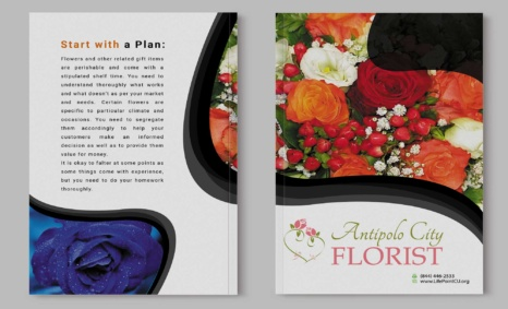 Free Download Flower Product Brochure Template