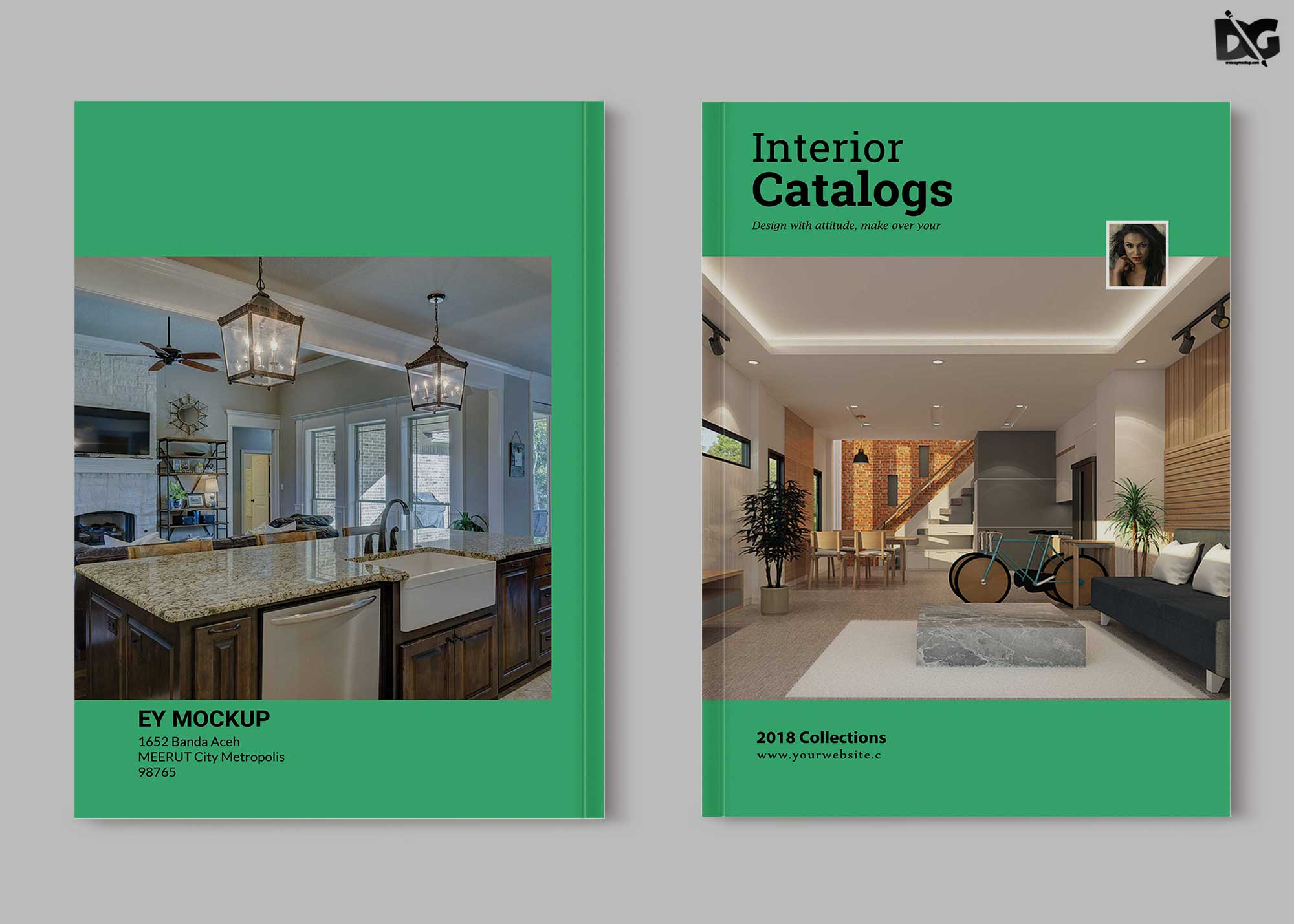 Free PSD Interior Catalogues Brochure Template