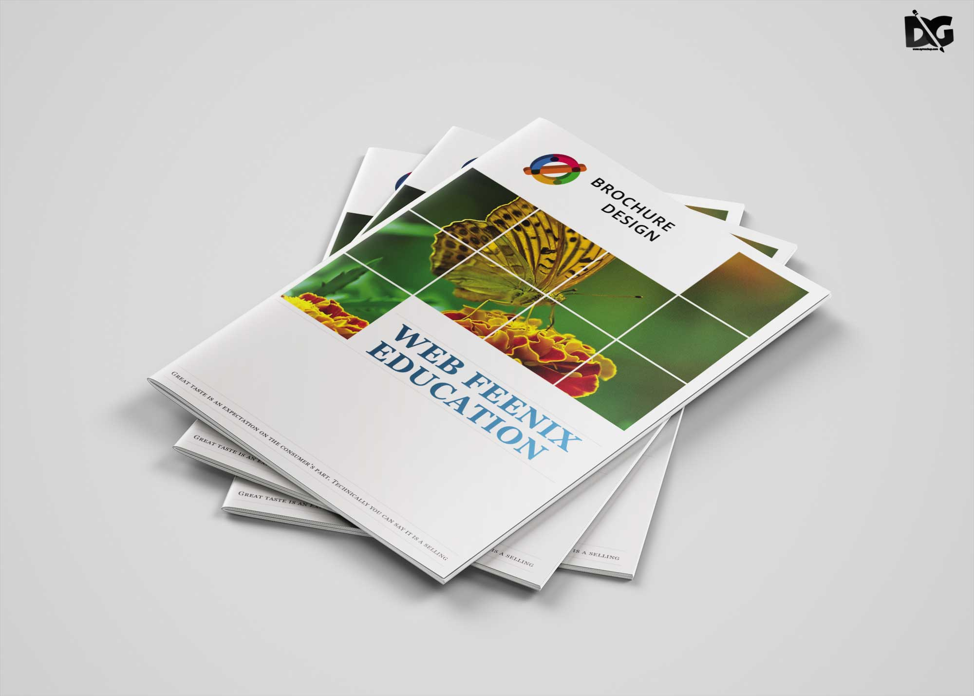 Free Creative Art Bi-Fold Brochure Template