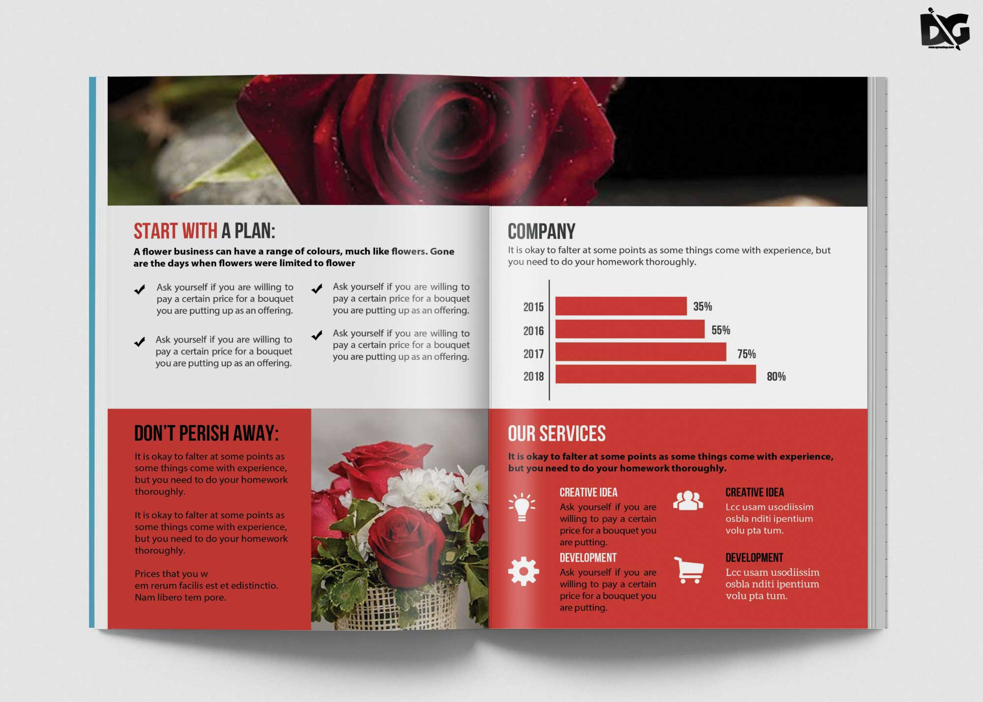 Free Download Flower Product Brochure Template | Free PSD ...