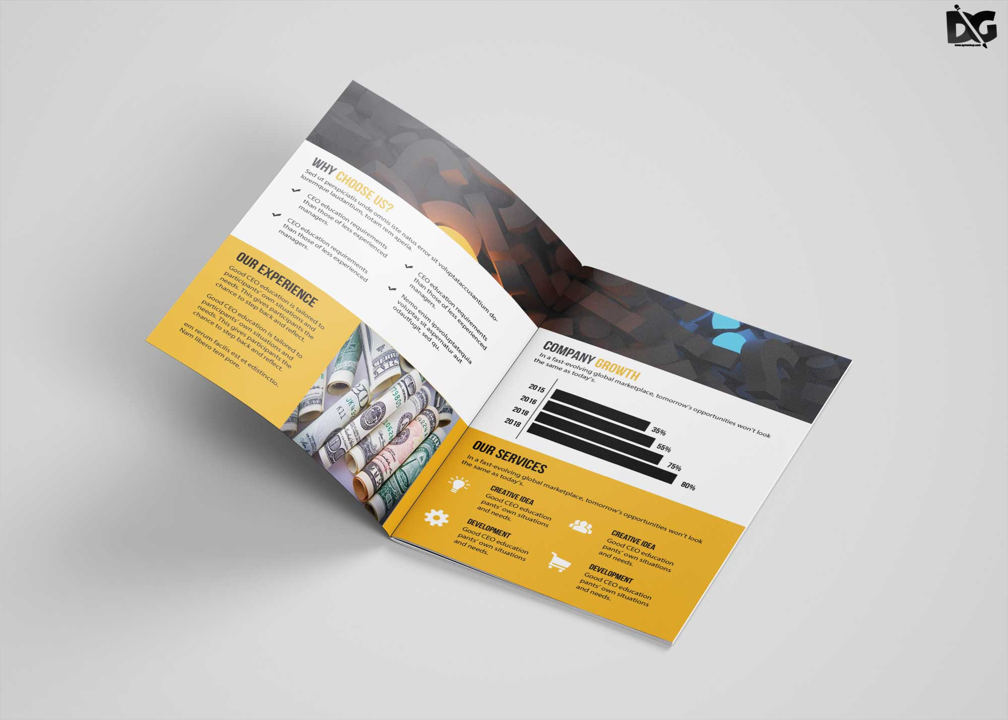 Brochure PSD template