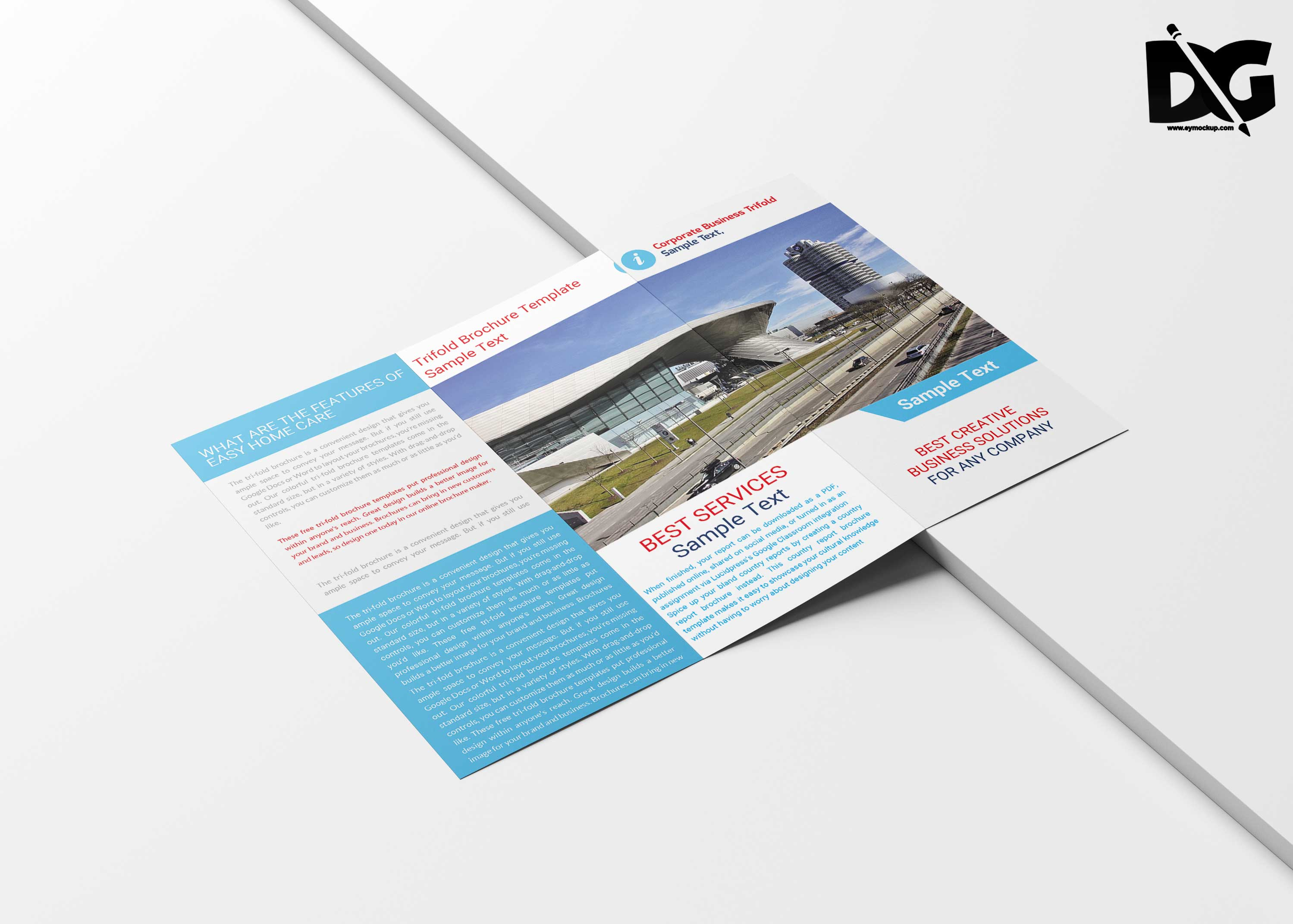 Transport Tri-Fold Brochure Template