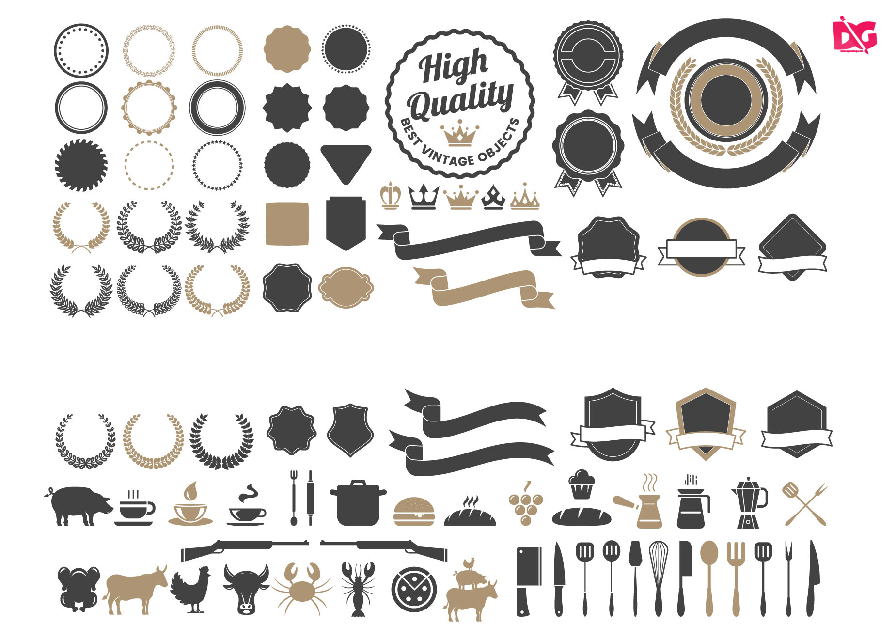 Free Badges Component Object Collection
