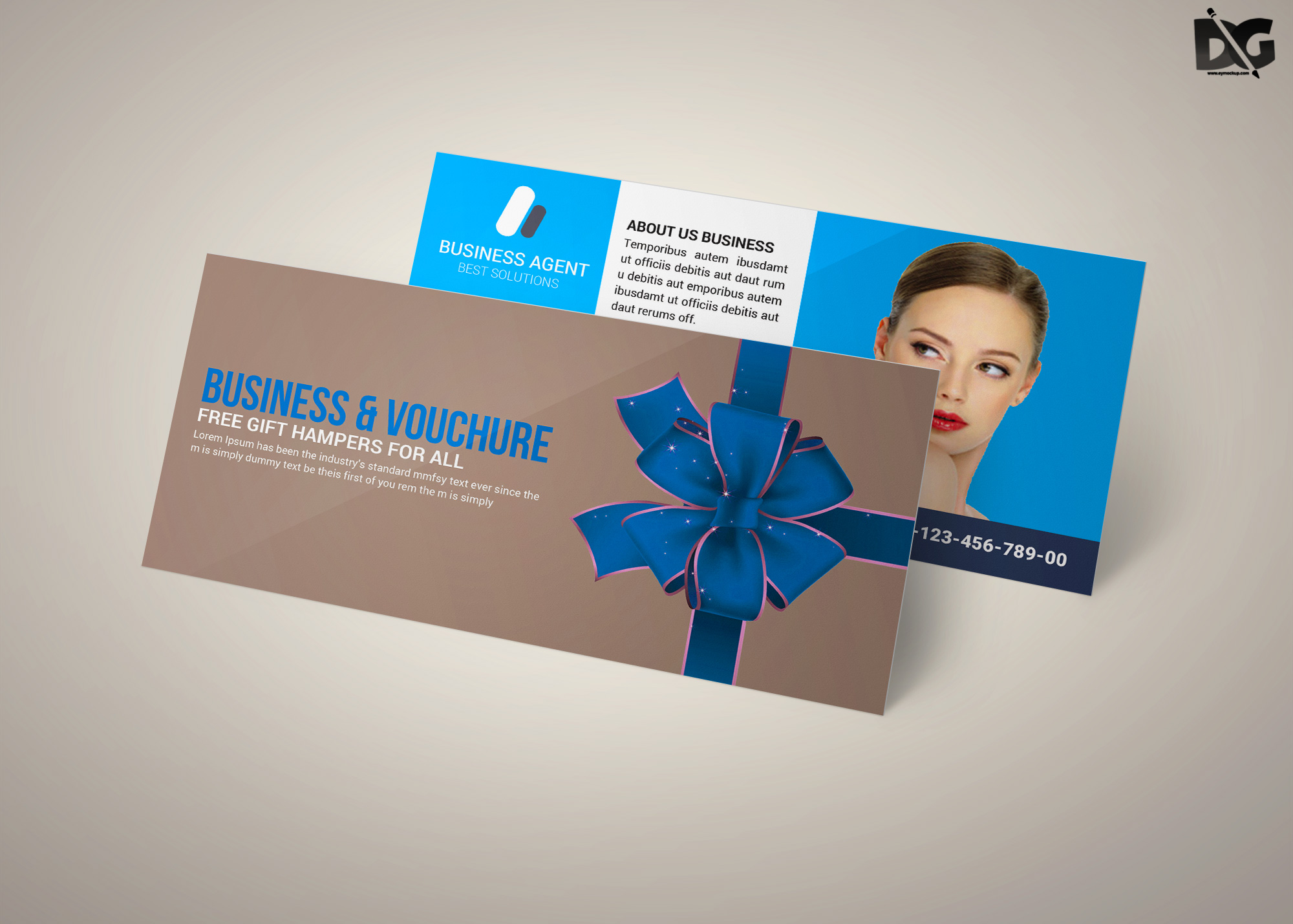 Free Beauty Salon Gift Card PSD Template