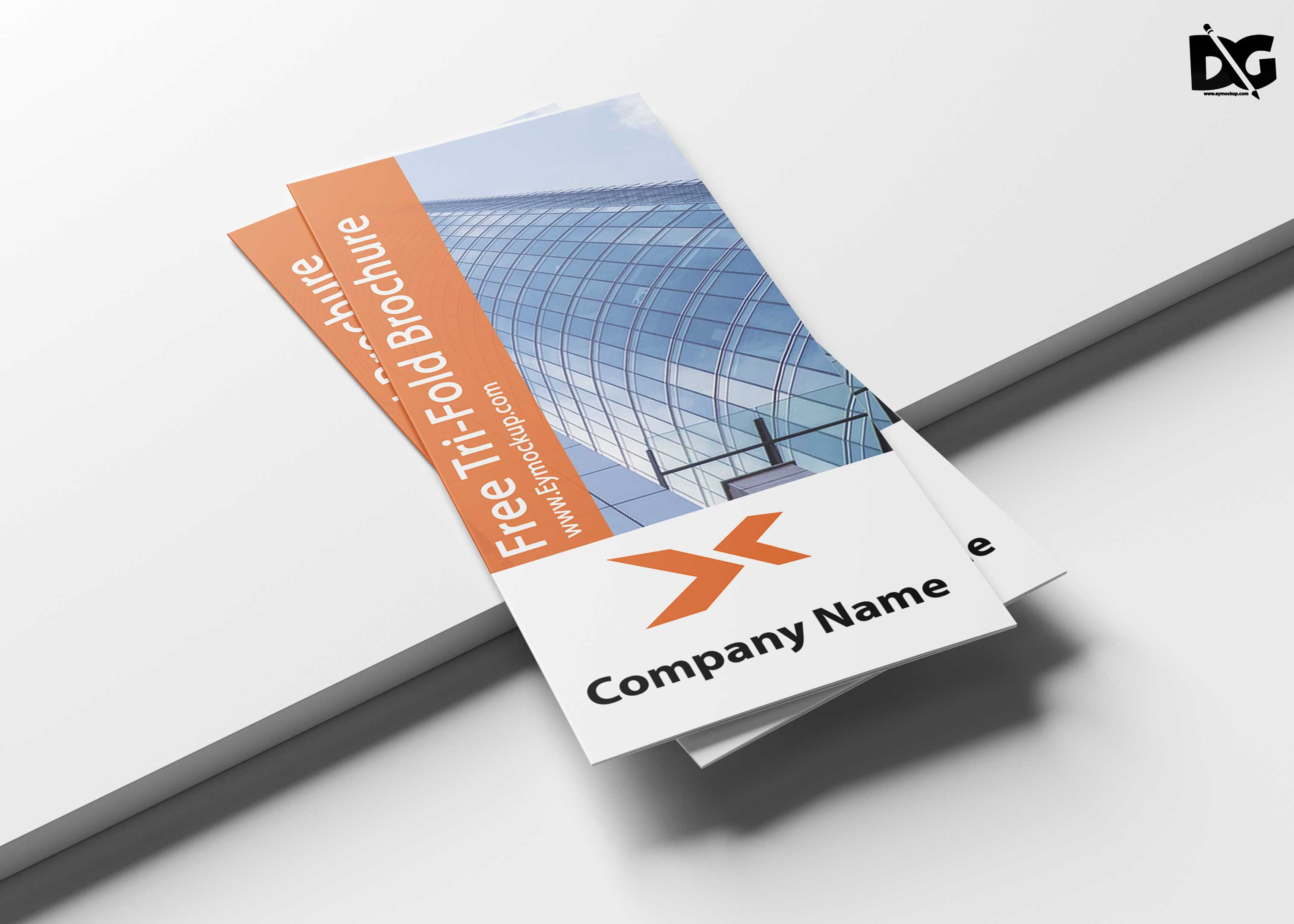 Free Business Brochure Tri-Fold Front Side