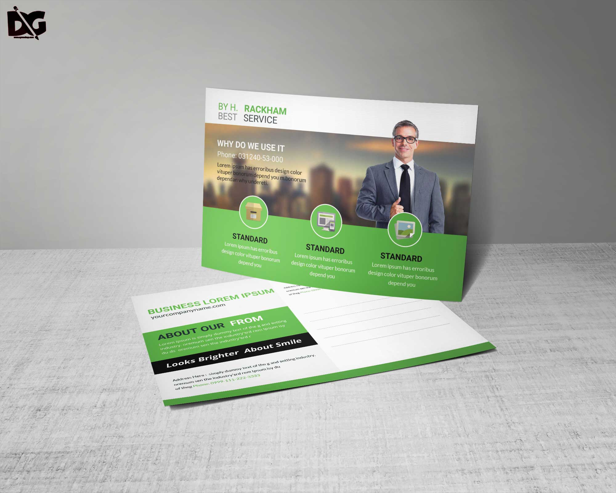 Free Business Service Postcard Template