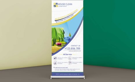 Free Cleaning Company Roll up Banner Template