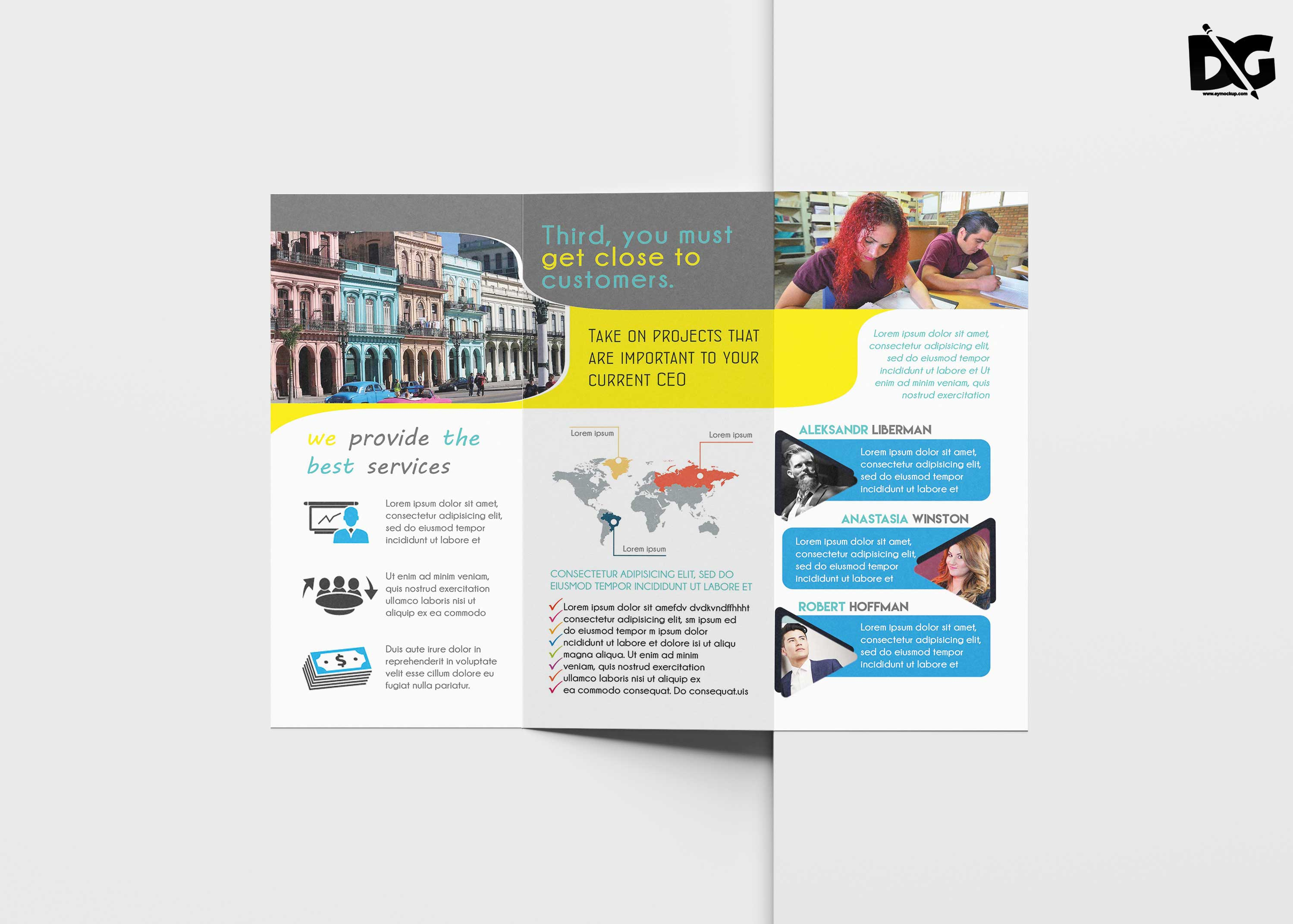 Free Cleaning Company Tri-Fold Template