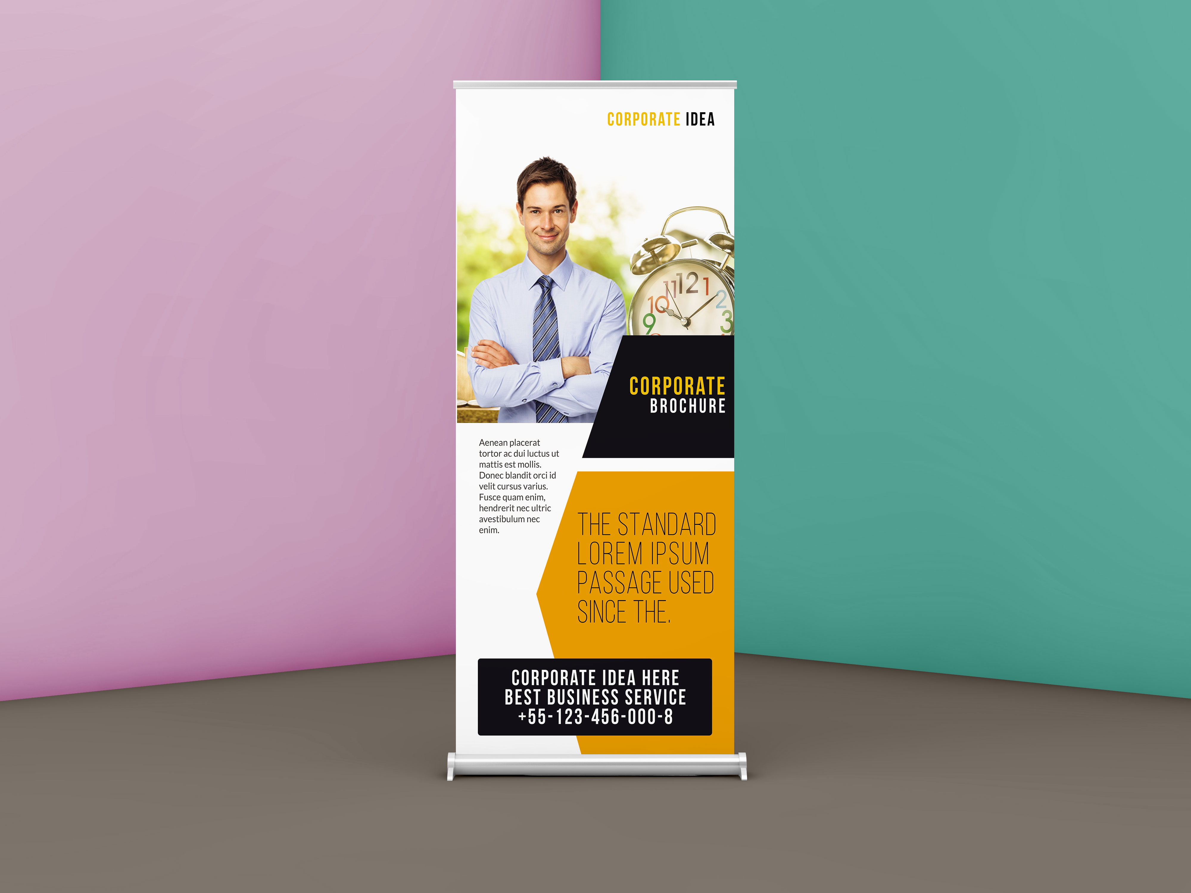 Free corporate business roll up banner psd template free psd mockup free corporate business roll up banner psd template wajeb Gallery