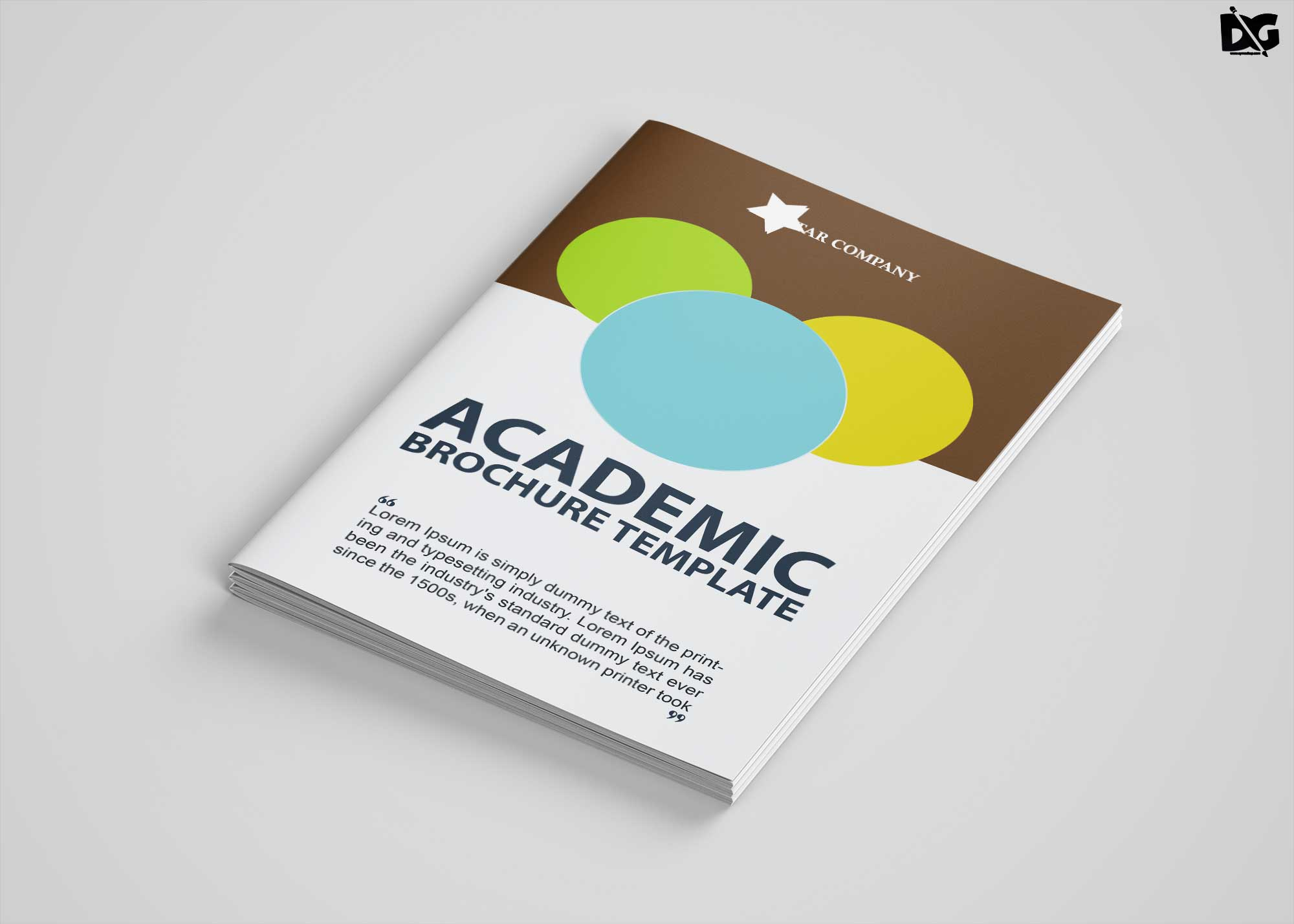 Free Download Academic Bi-Fold PSD Brochure Template