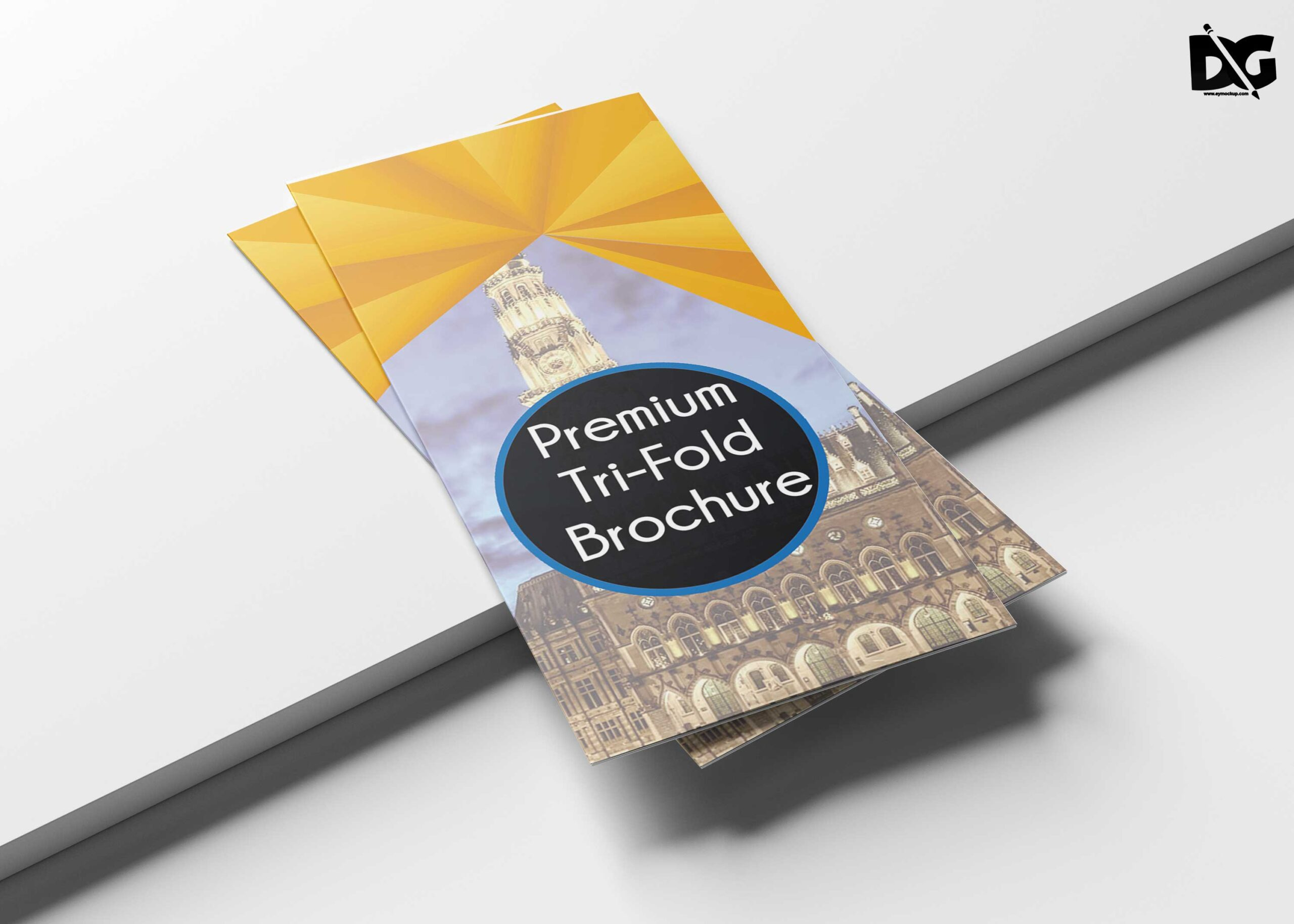 Free Download Architectural Tri-Fold PSD Brochure Template